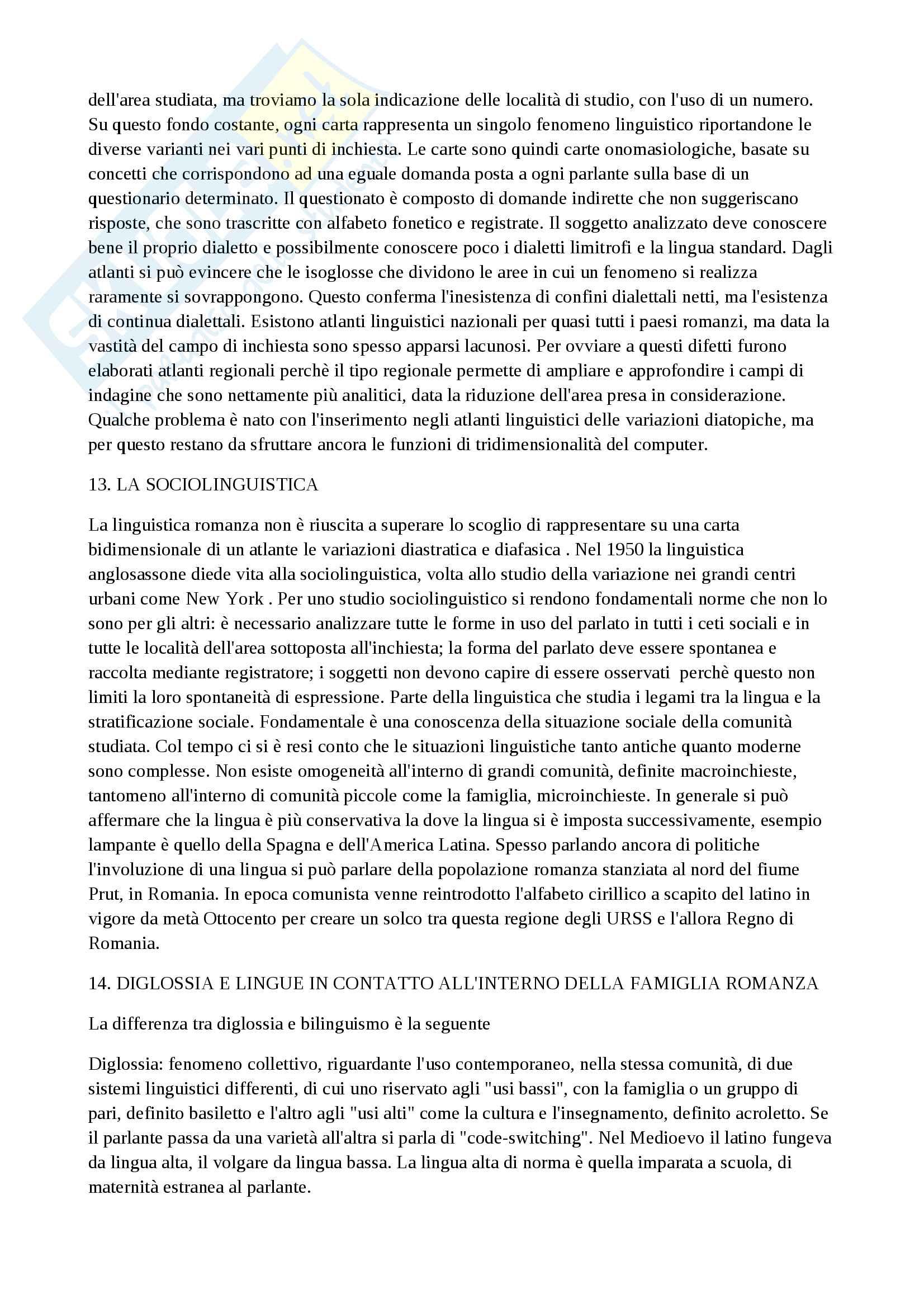 Riassunto esame Filologia Romanza, docente Punzi, libro consigliato Linguistica Romanza, Varvaro, basato su studio autonomo e appunti personali Pag. 6