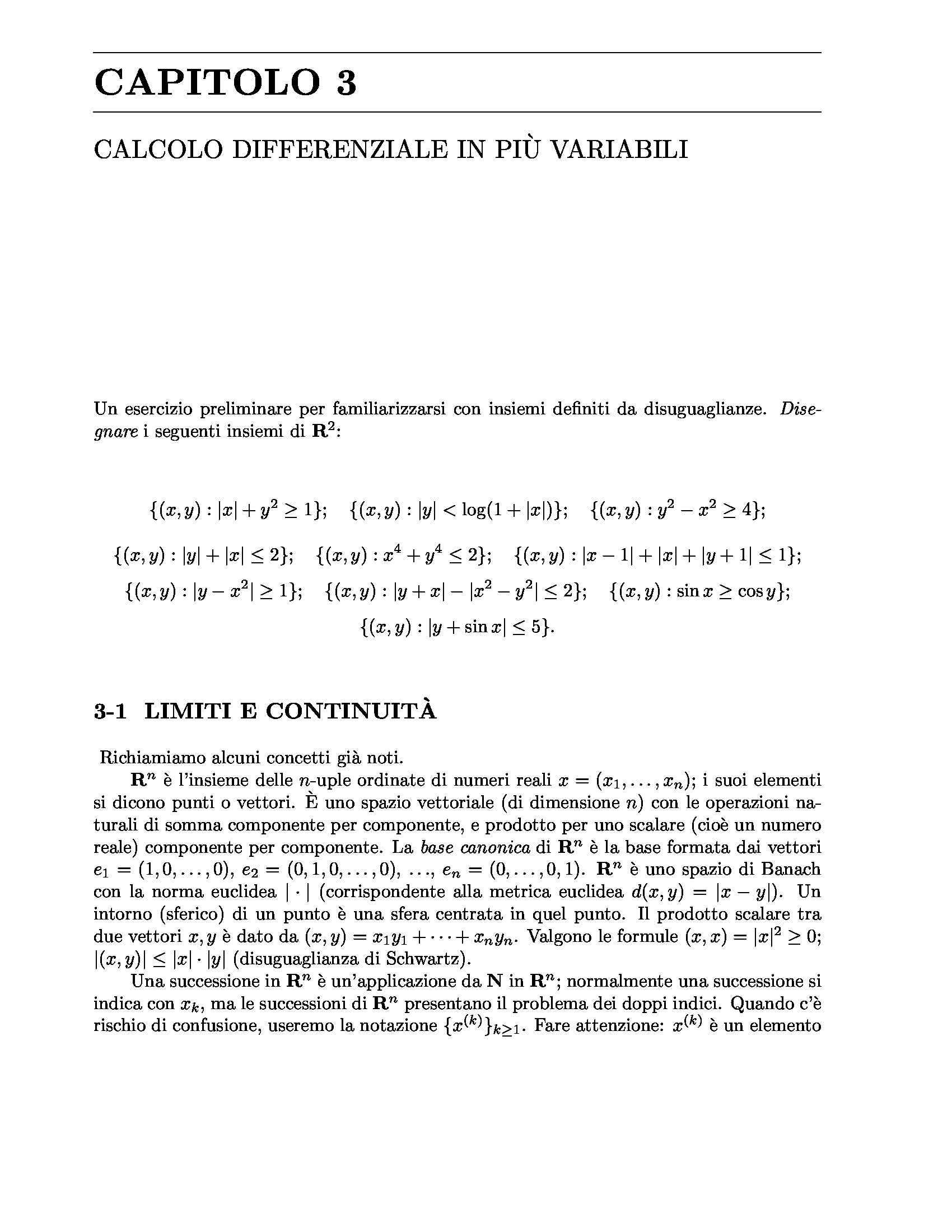 Calcolo differenziale in più variabili