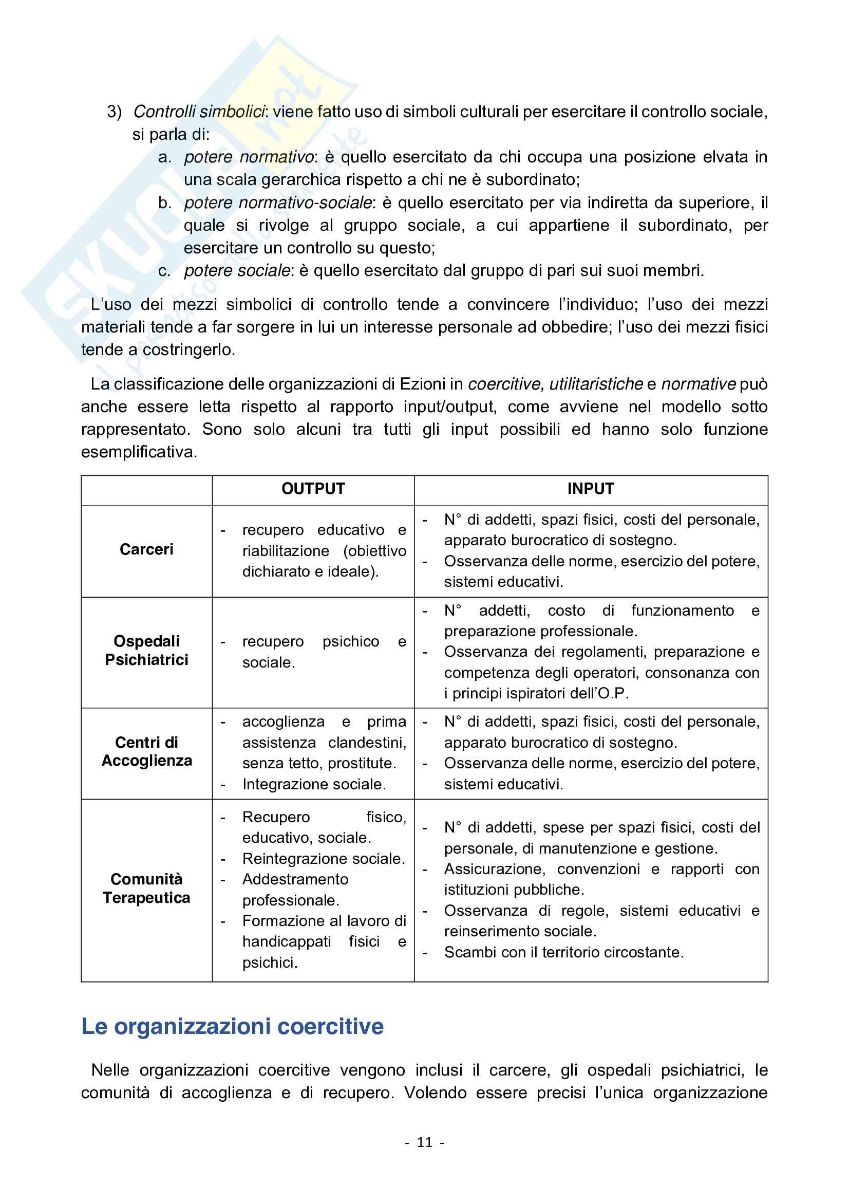 Organizzazione del lavoro per lo sviluppo delle risorse umane Pag. 11