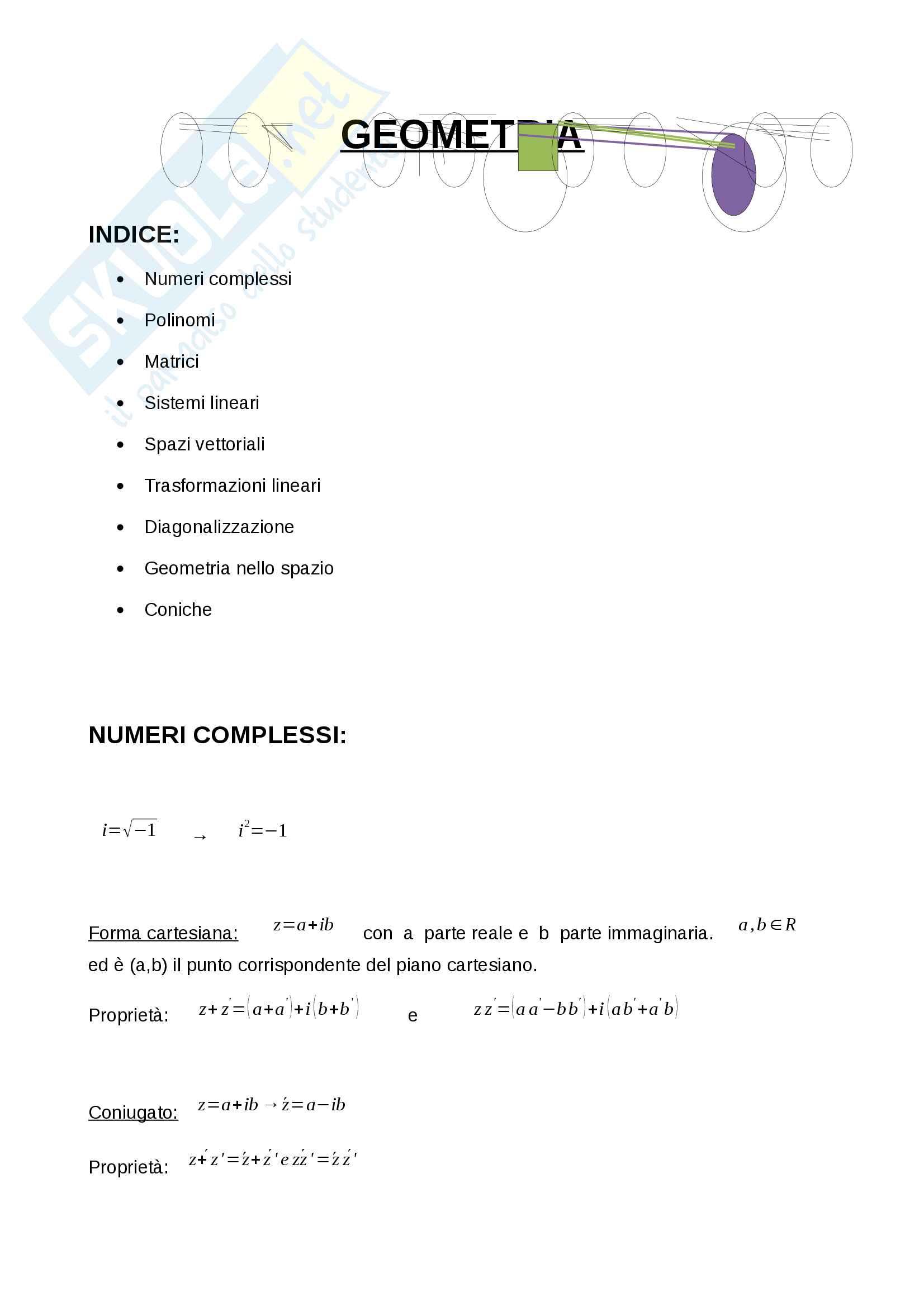 Appunti di Geometria UniGe (Catalisano)