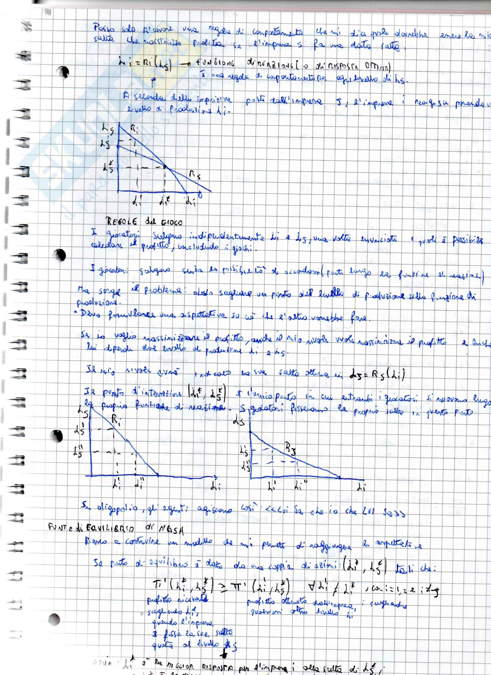 Appunti sul Monopolio e Oligopolio per l'esame di Microeconomia, prof.Martina Pag. 16