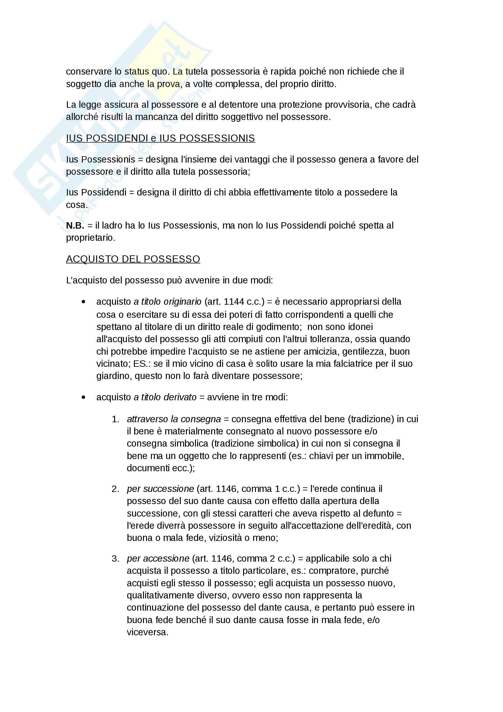 Diritto privato - possesso Pag. 2