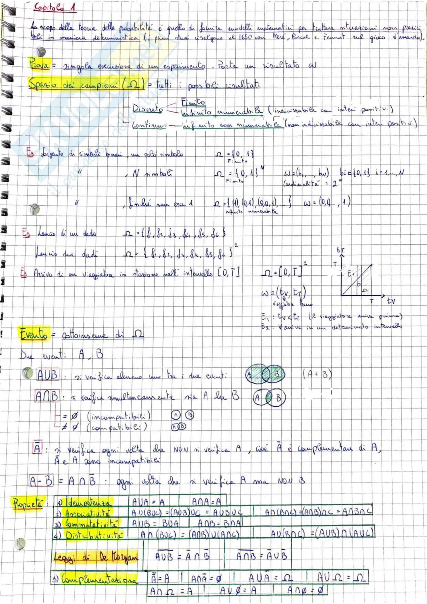 Probabilità e Informazione - Teoria, Esercizi svolti