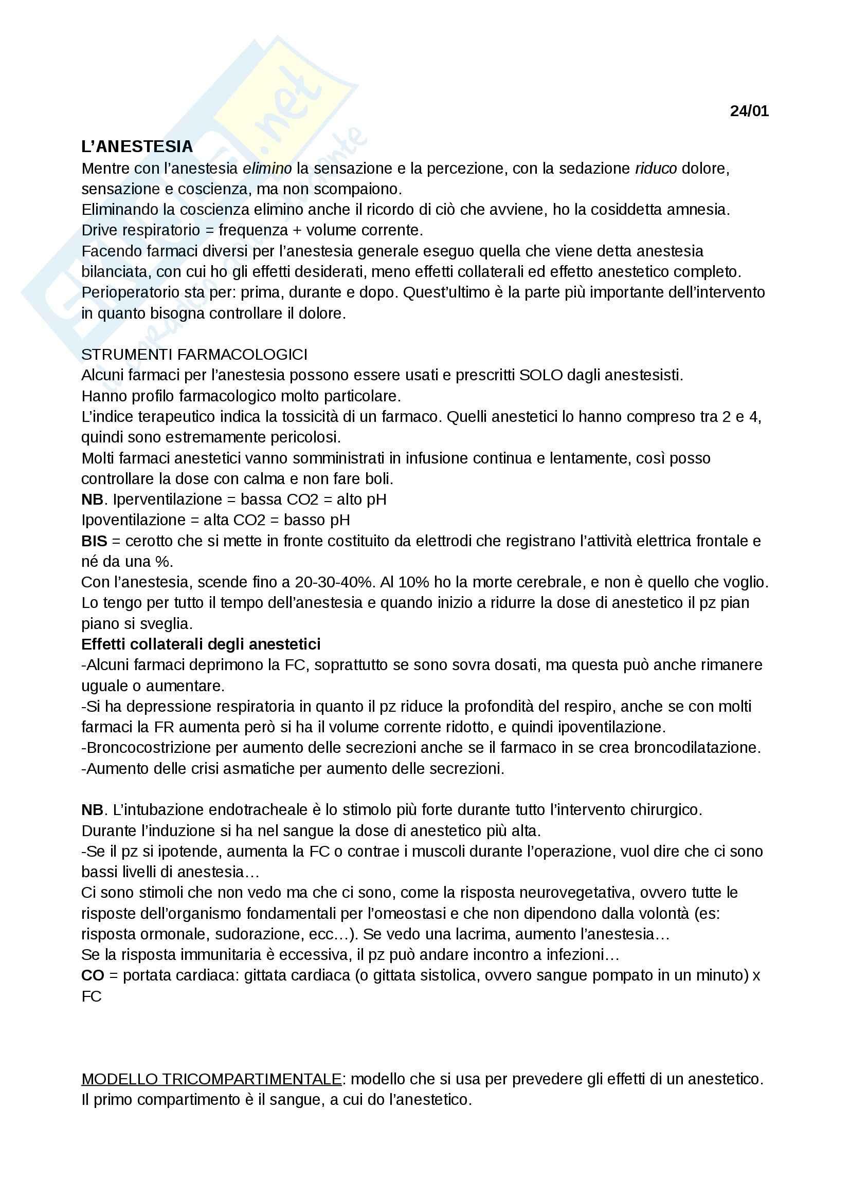 Nozioni: Appunti Infermieristica clinica