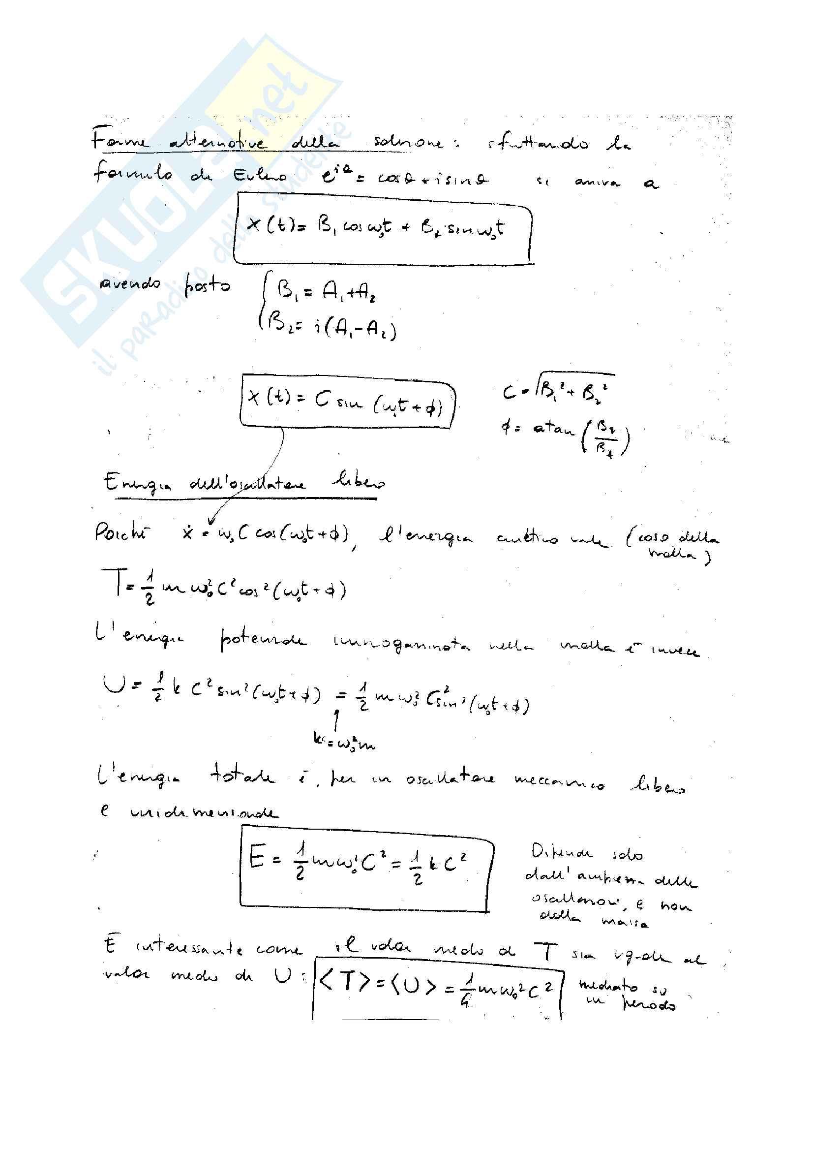 Oscillazioni lineari Pag. 2
