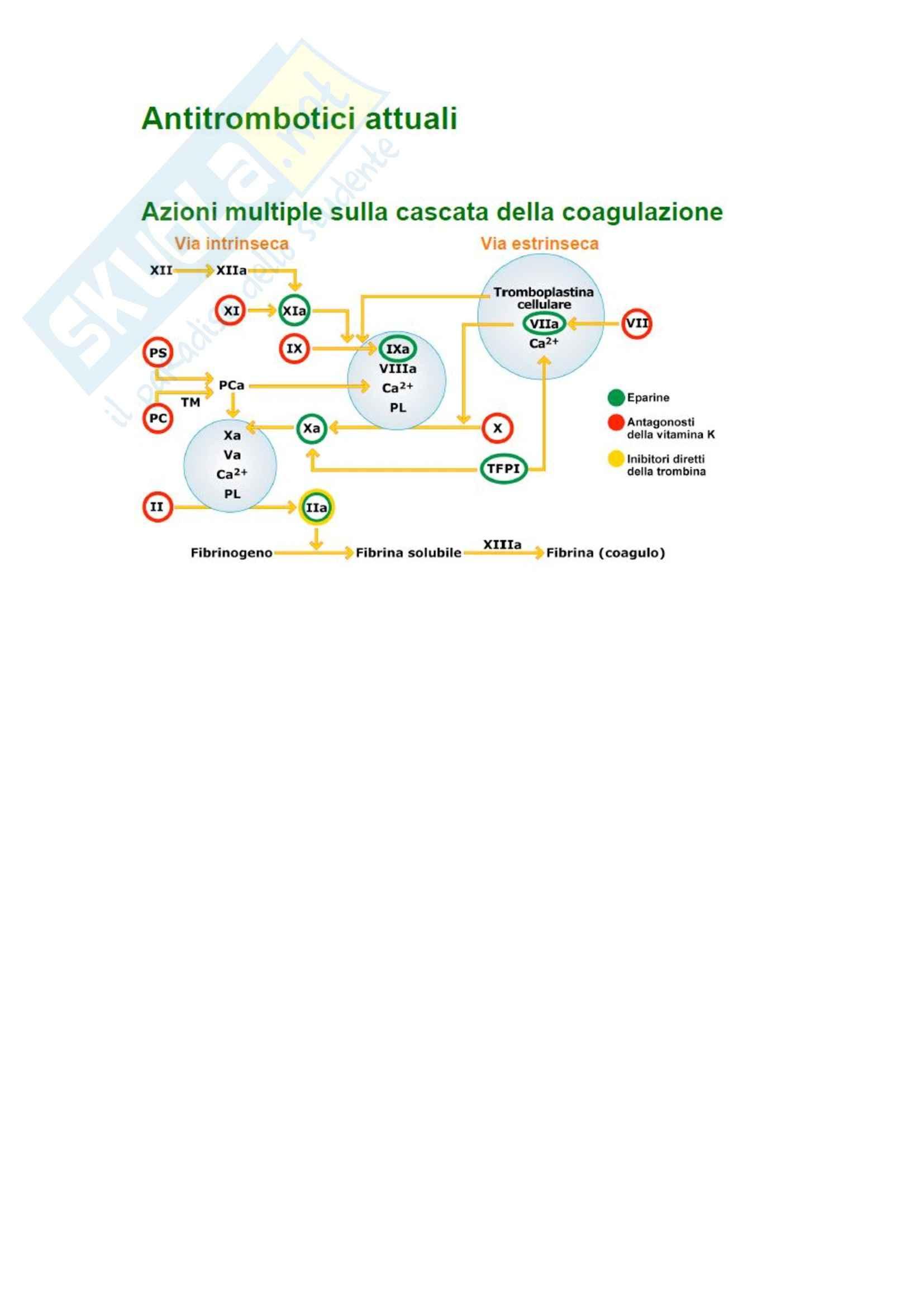 Patologia clinica - gli antitrombotici delle eparine
