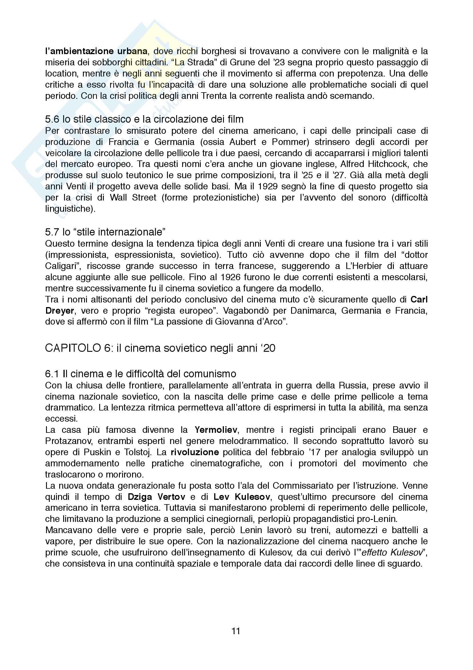 Riassunto esame Storia ed estetica del cinema, prof. Moccagatta/Caccia/Farinotti, libro consigliato Storia del cinema, Un'introduzione Pag. 11