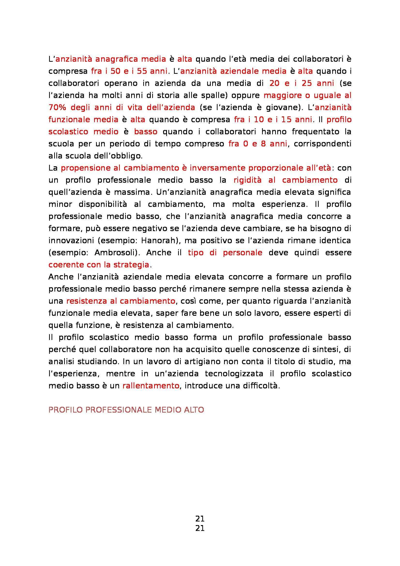 Organizzazione aziendale delle PMI - Appunti Pag. 21