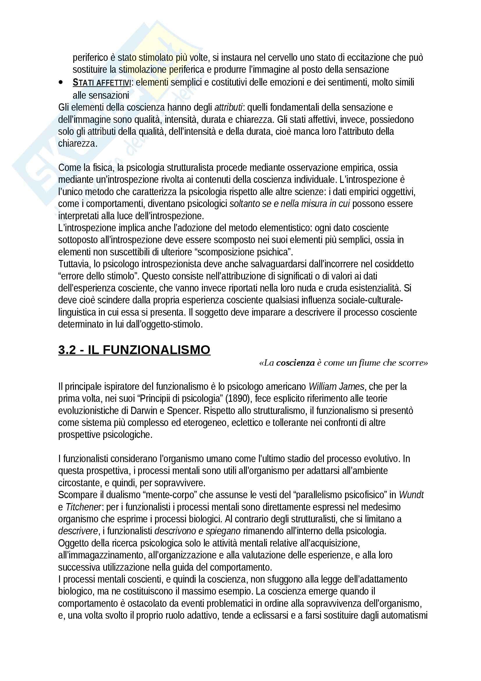 Riassunto esame Psicologia, prof. Giannini, libro consigliato Storia della psicologia, Legrenzi Pag. 6