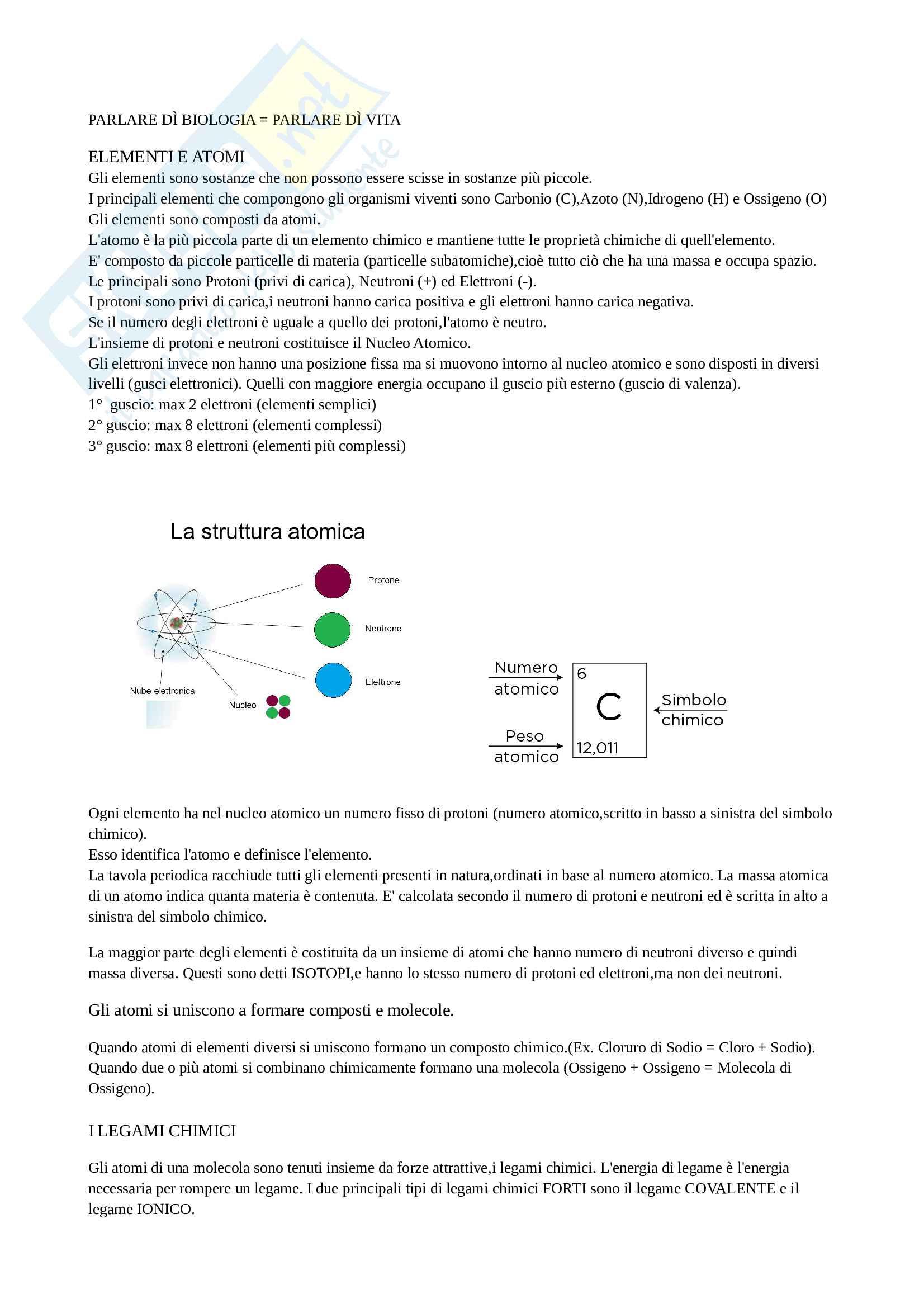 Composizione chimica della materia vivente