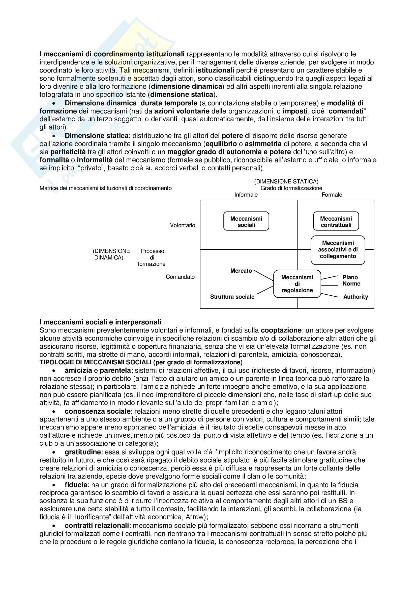Riassunto esame di Organizzazione Aziendale, proff. Sicca, Canonico, Consiglio, Mercurio, libro Organizzazione aziendale: assetto e meccanismi di relazione Pag. 31