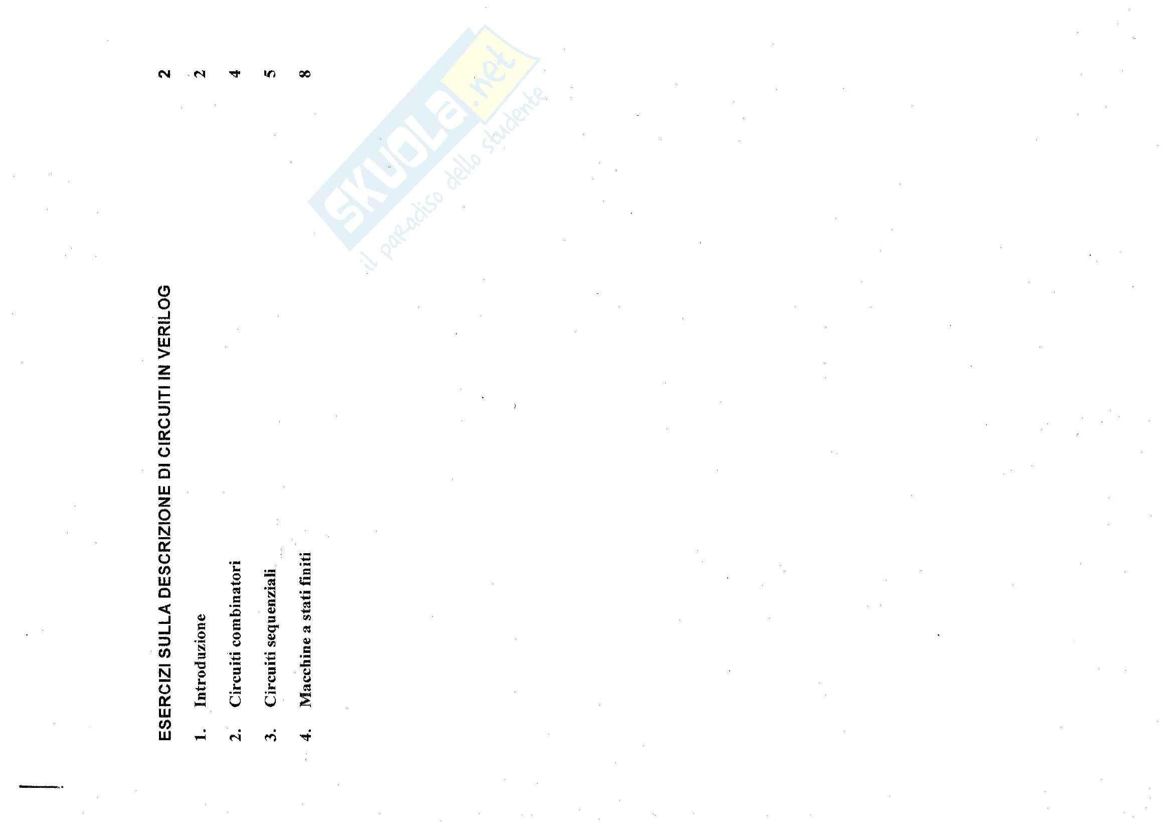 Sistemi elettronici programmabili - Esercizi sulla descrizione di circuiti in verilog