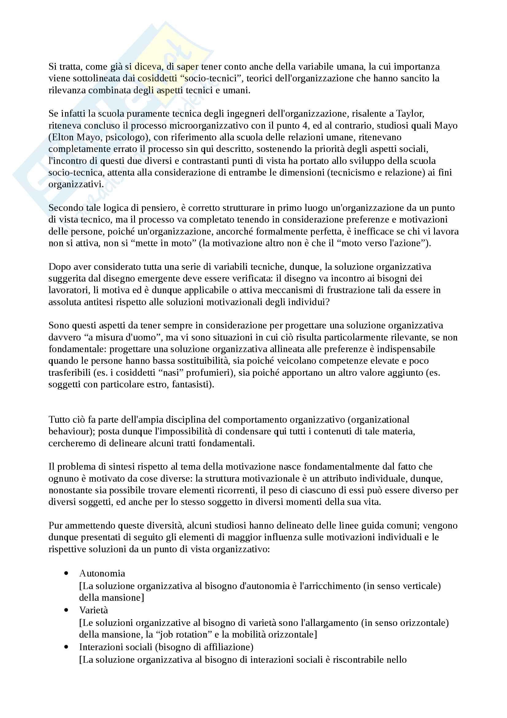 Riassunto esame Organizzazione, prof. Imperatori, libro consigliato Organizzazione Aziendale, Daft Pag. 56