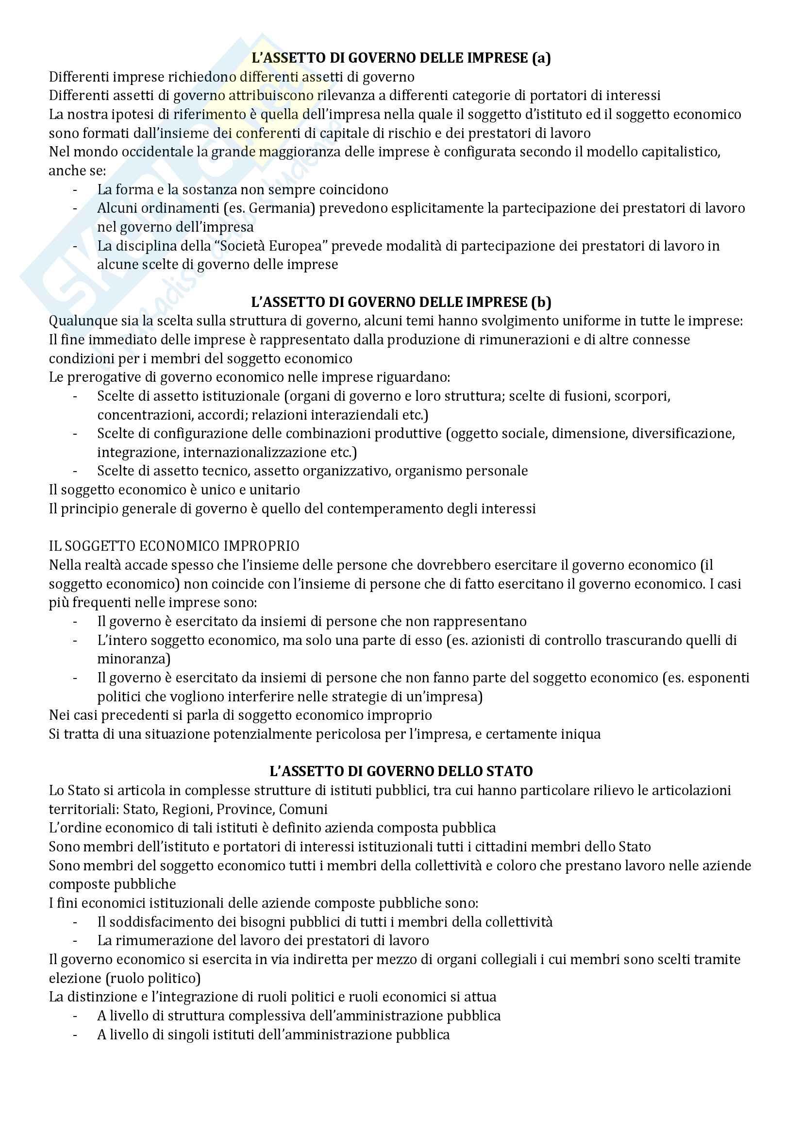 Riassunto esame Economia Aziendale, libro consigliato Corso di Economia Aziendale. ABC: Airoldi, Brunetti e Coda, Il Mulino Pag. 21