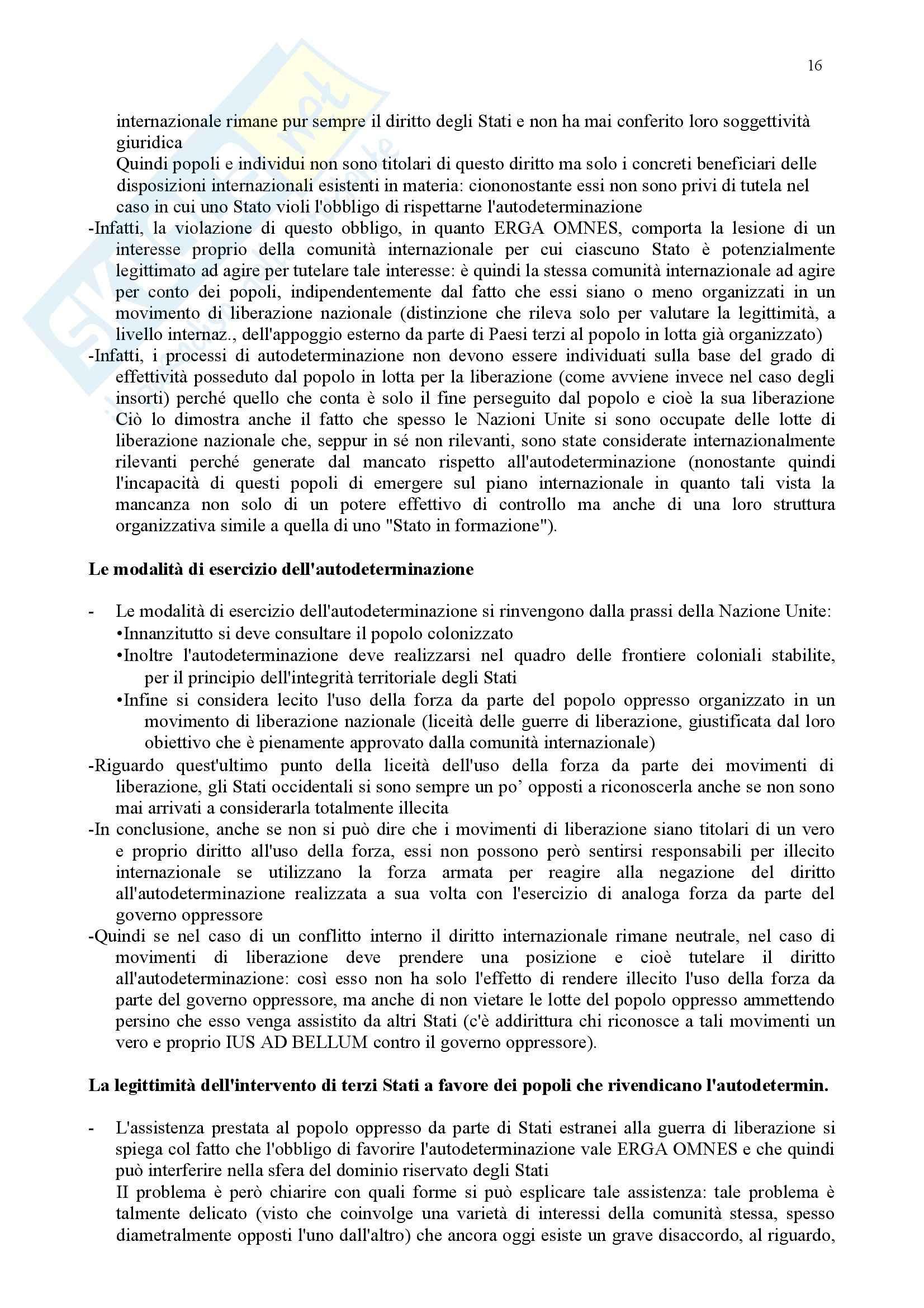 Riassunto esame Diritto Internazionale, prof. Daniele, libro consigliato Diritto Internazionale, Leanza Pag. 16