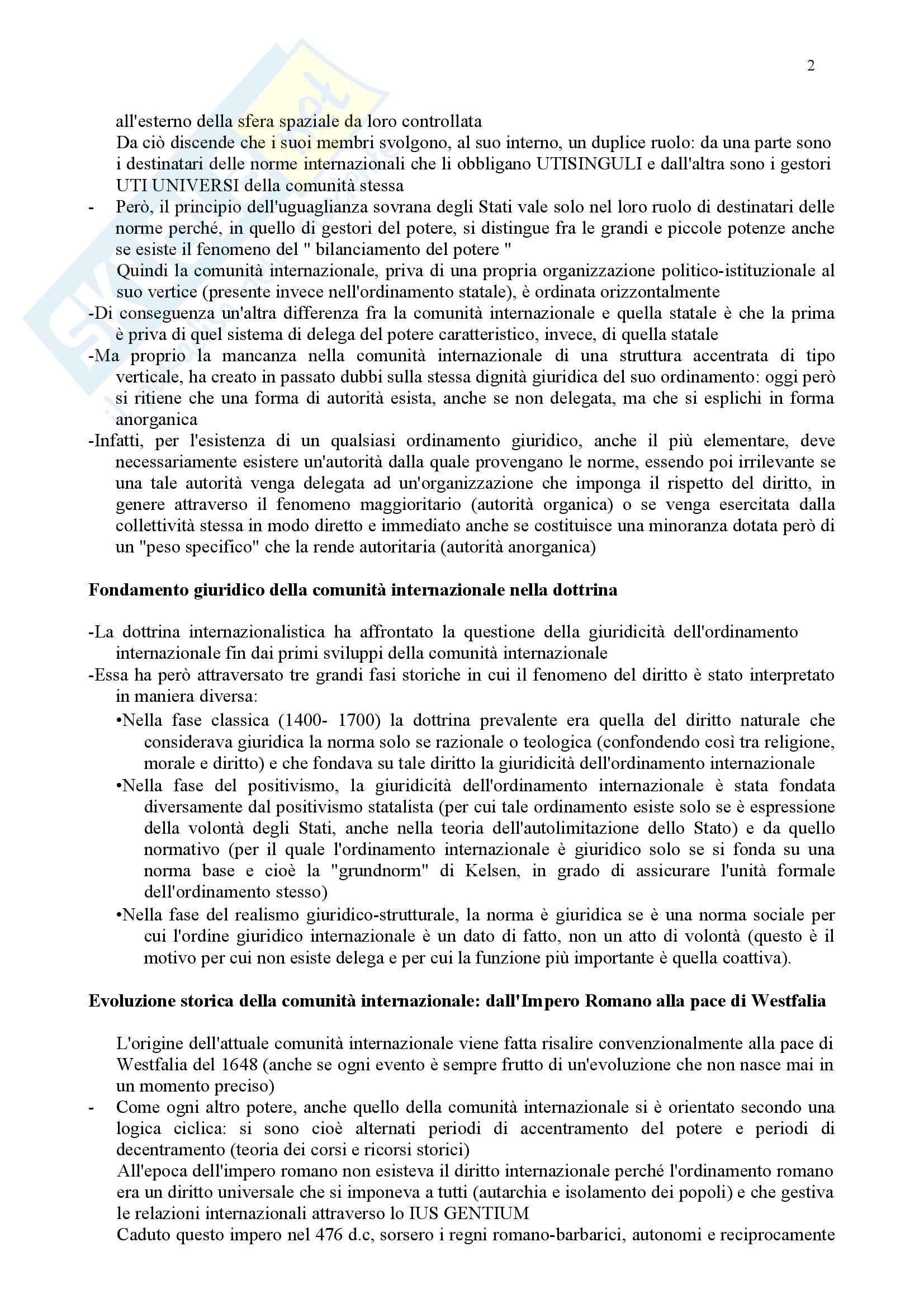 Riassunto esame Diritto Internazionale, prof. Daniele, libro consigliato Diritto Internazionale, Leanza Pag. 2