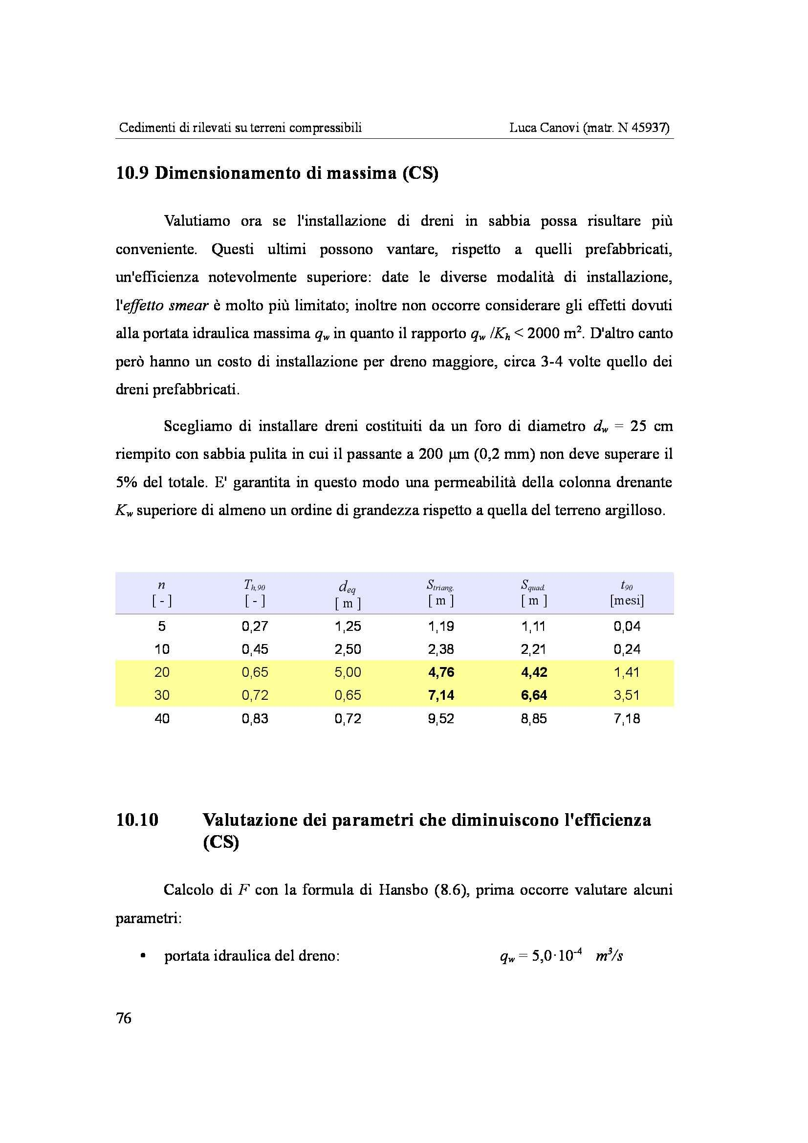 Tesi - Cedimenti su terreni compressibili Pag. 76