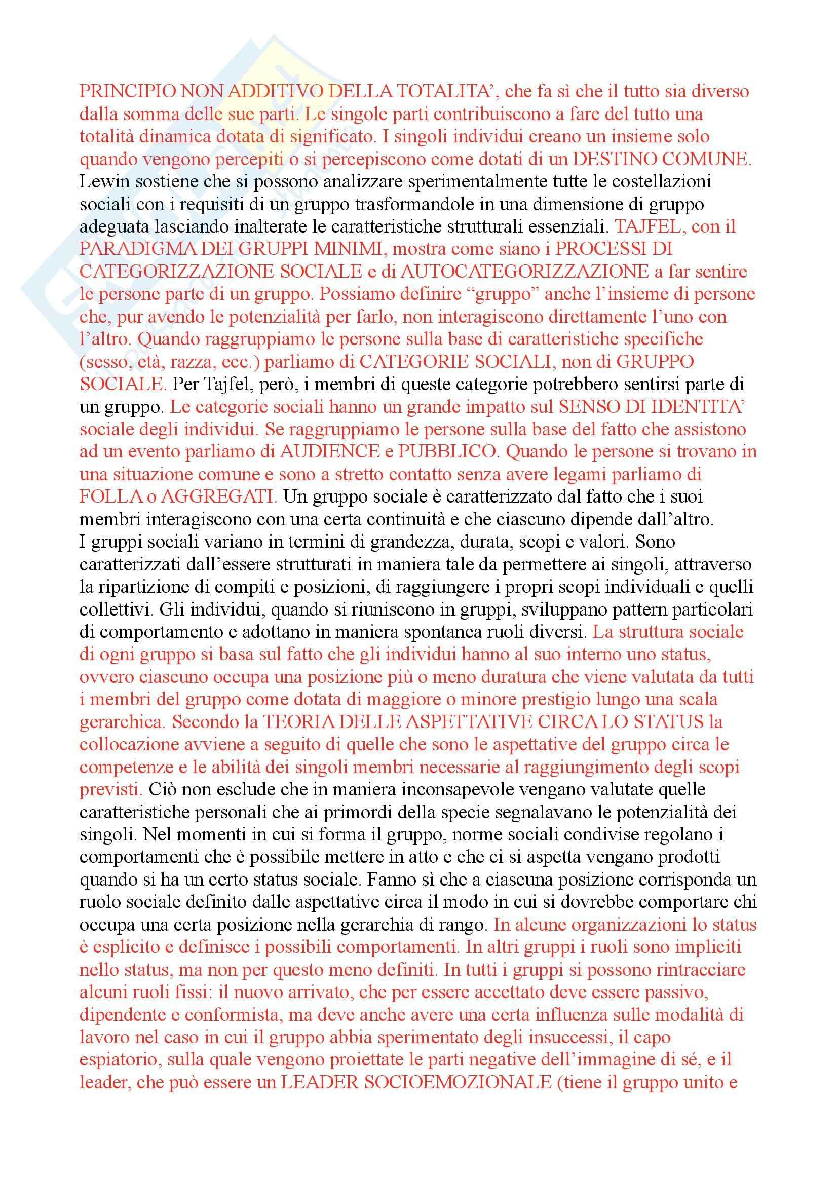 Riassunto esame psicologia sociale, prof. Attili, libro consigliato Psicologia sociale fra basi innate e influenza degli altri, Attili Pag. 31