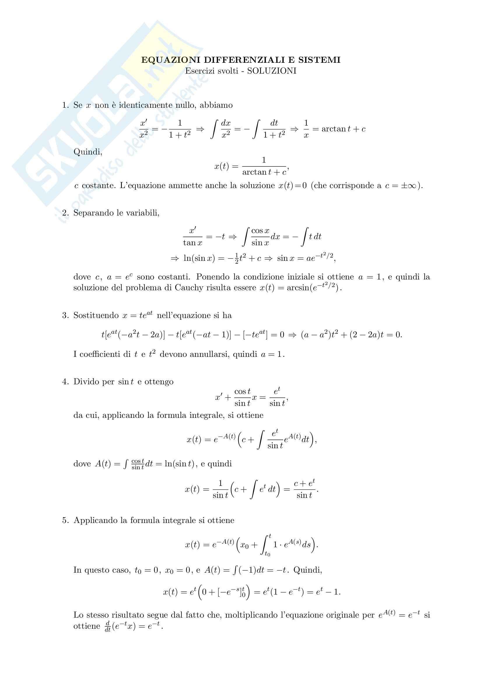 Analisi I - Esercizi Pag. 2