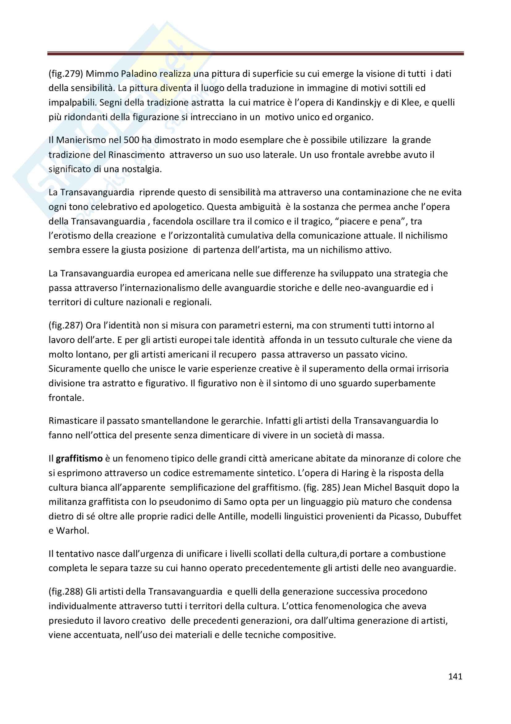 Riassunto esame Storia dell'Arte Contemporanea, prof. Bianchino, libro consigliato L'Arte Moderna, Oliva Pag. 141