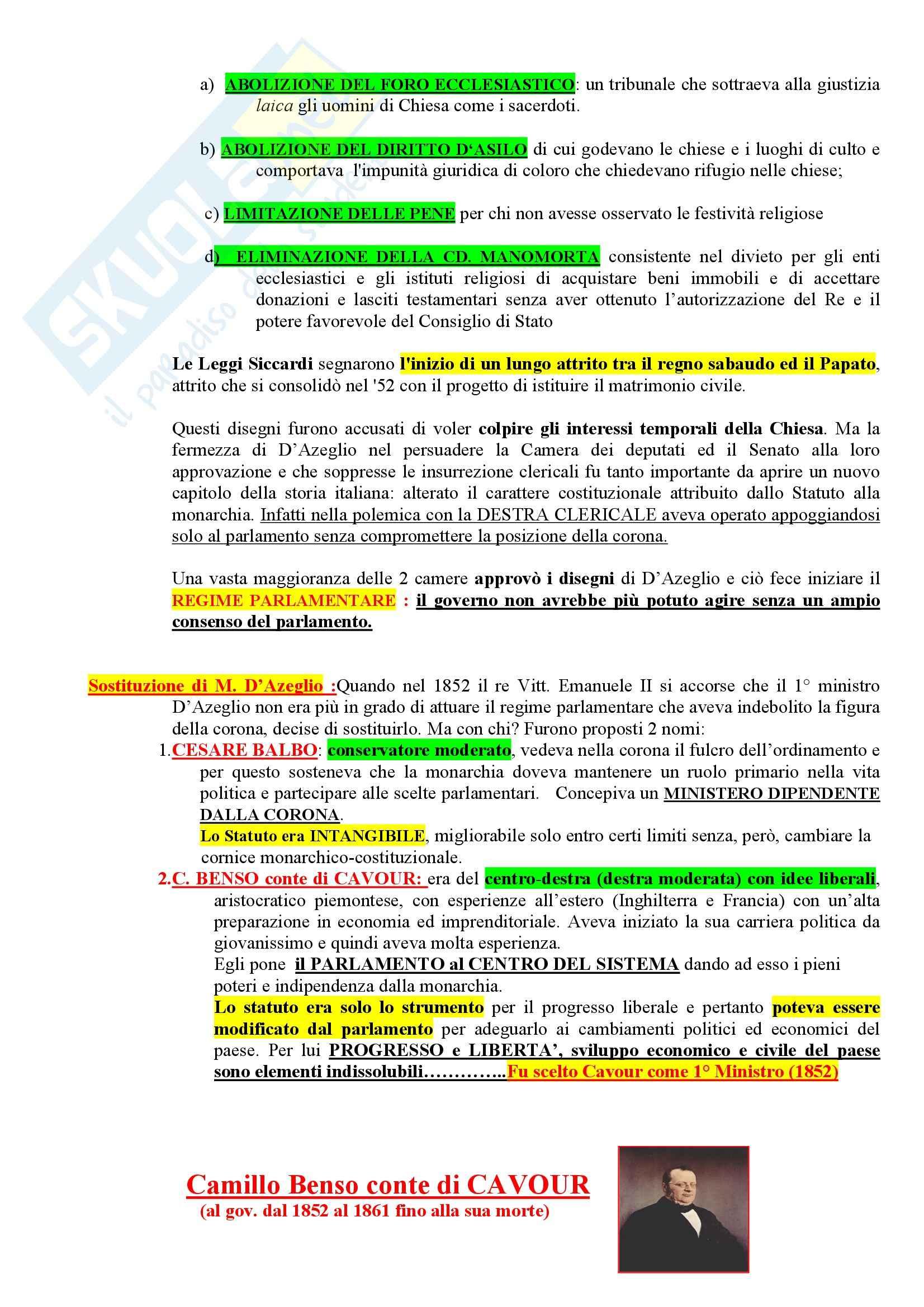 Riassunto esame Storia del diritto costituzionale, prof. Girotto, libro consigliato Storia Costituzionale d'Italia, Ghisalberti Pag. 16