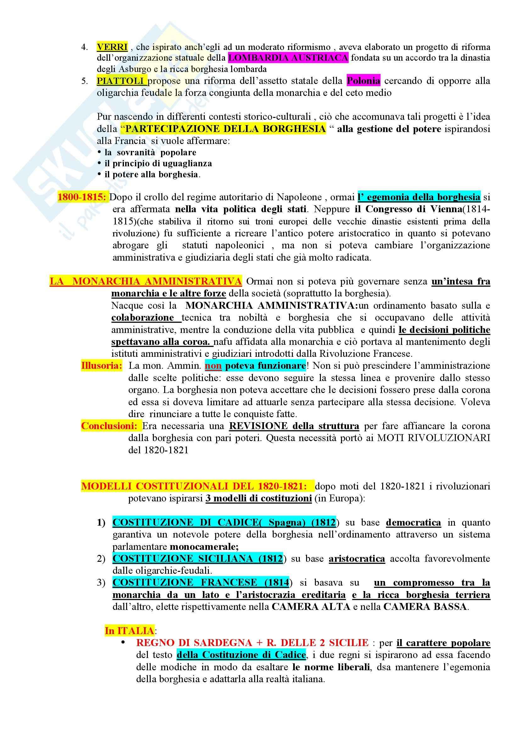Riassunto esame Storia del diritto costituzionale, prof. Girotto, libro consigliato Storia Costituzionale d'Italia, Ghisalberti Pag. 2