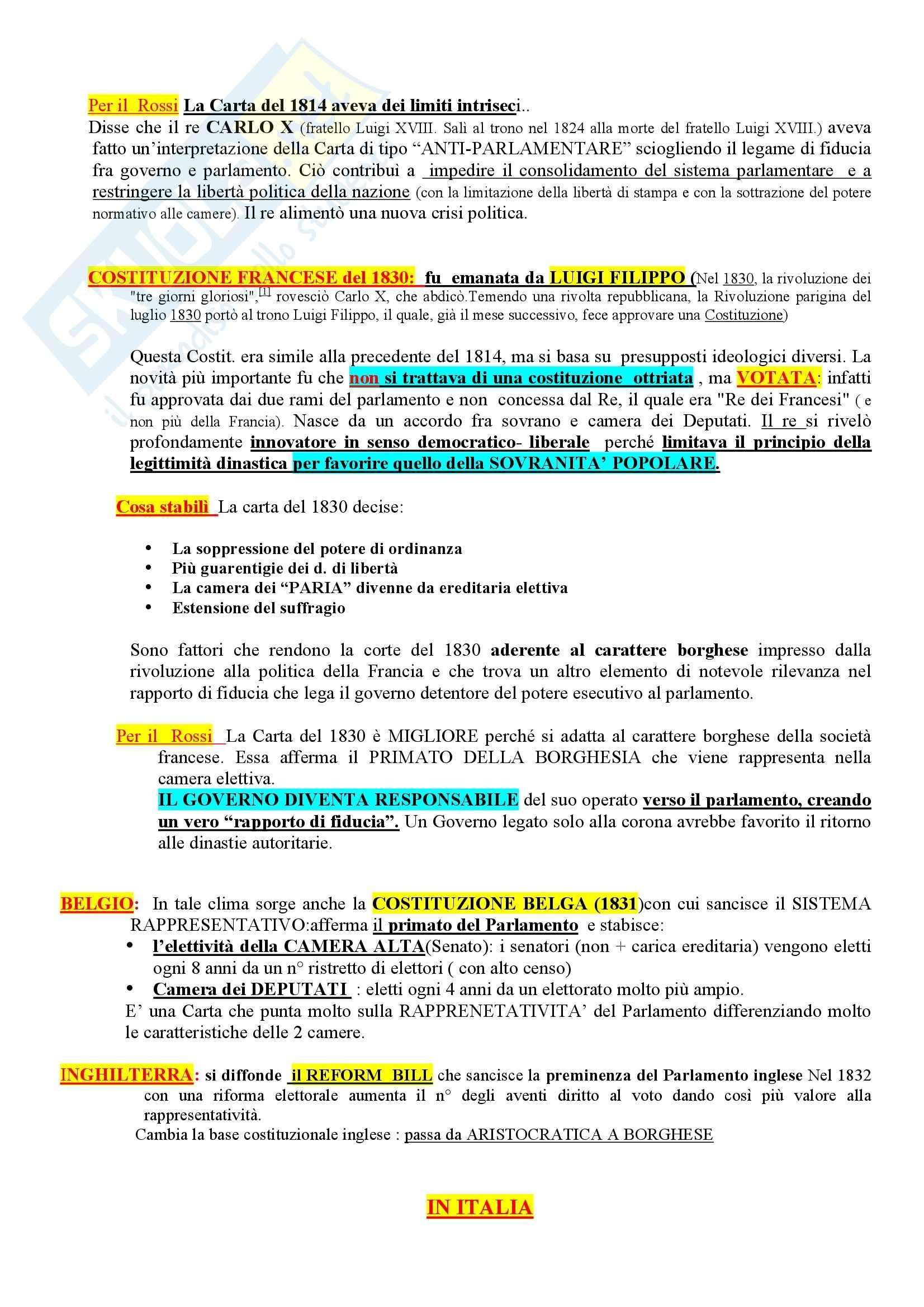 Riassunto esame Storia del diritto costituzionale, prof. Girotto, libro consigliato Storia Costituzionale d'Italia, Ghisalberti Pag. 6