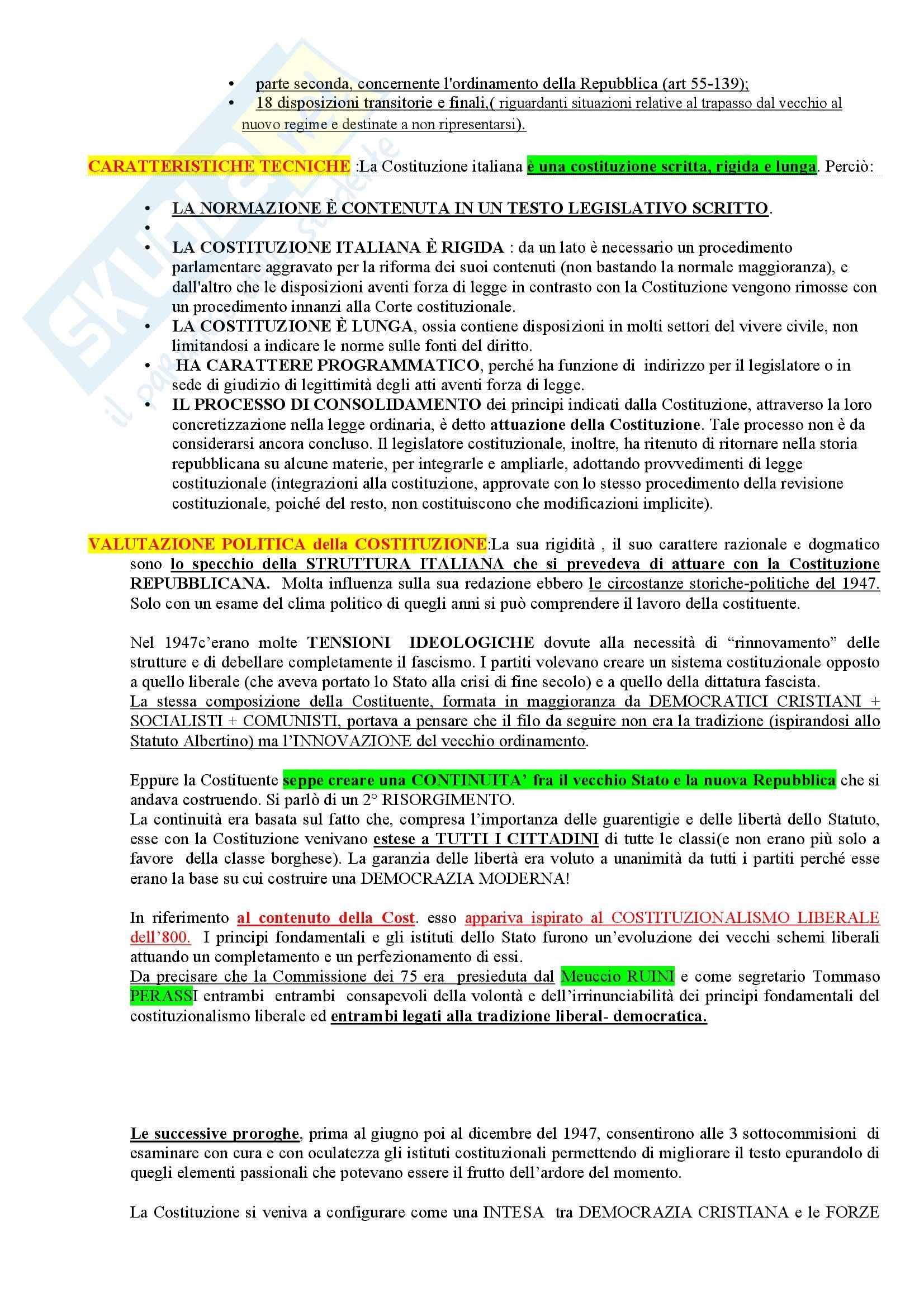 Riassunto esame Storia del diritto costituzionale, prof. Girotto, libro consigliato Storia Costituzionale d'Italia, Ghisalberti Pag. 91