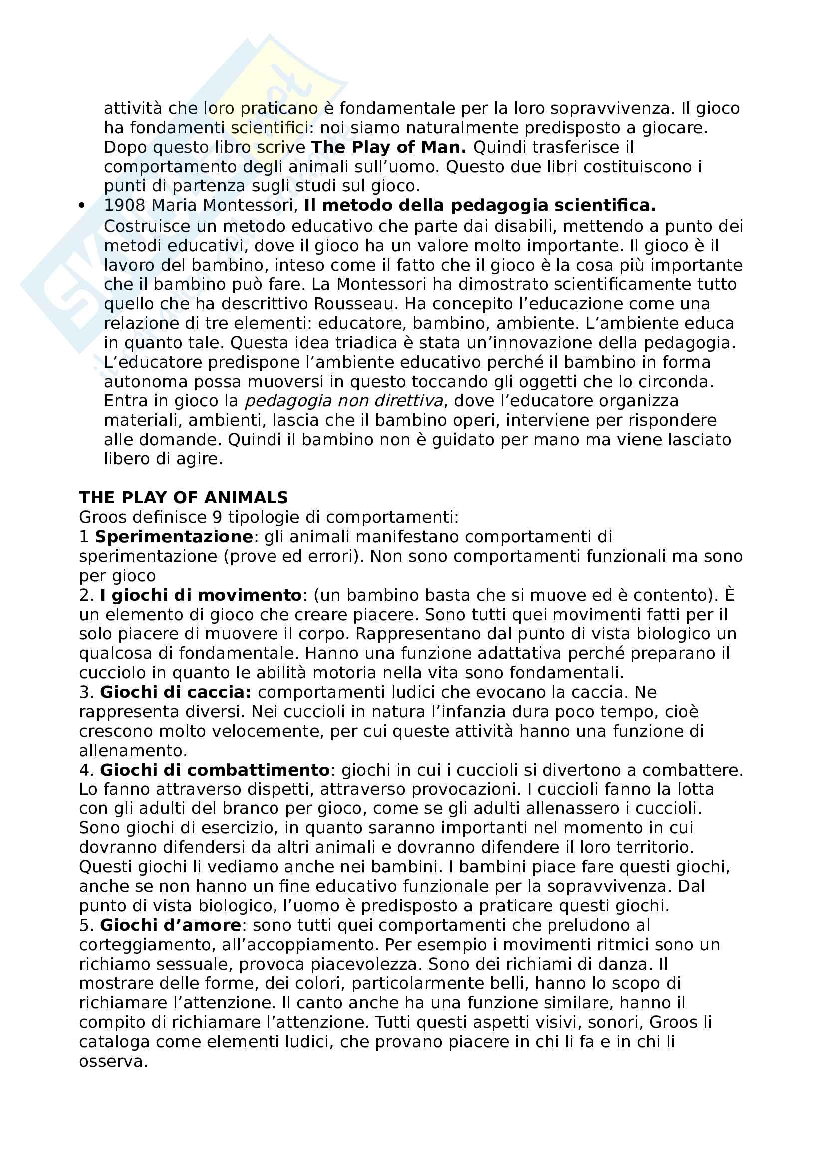 Pedagogia del gioco e dello sport Pag. 6