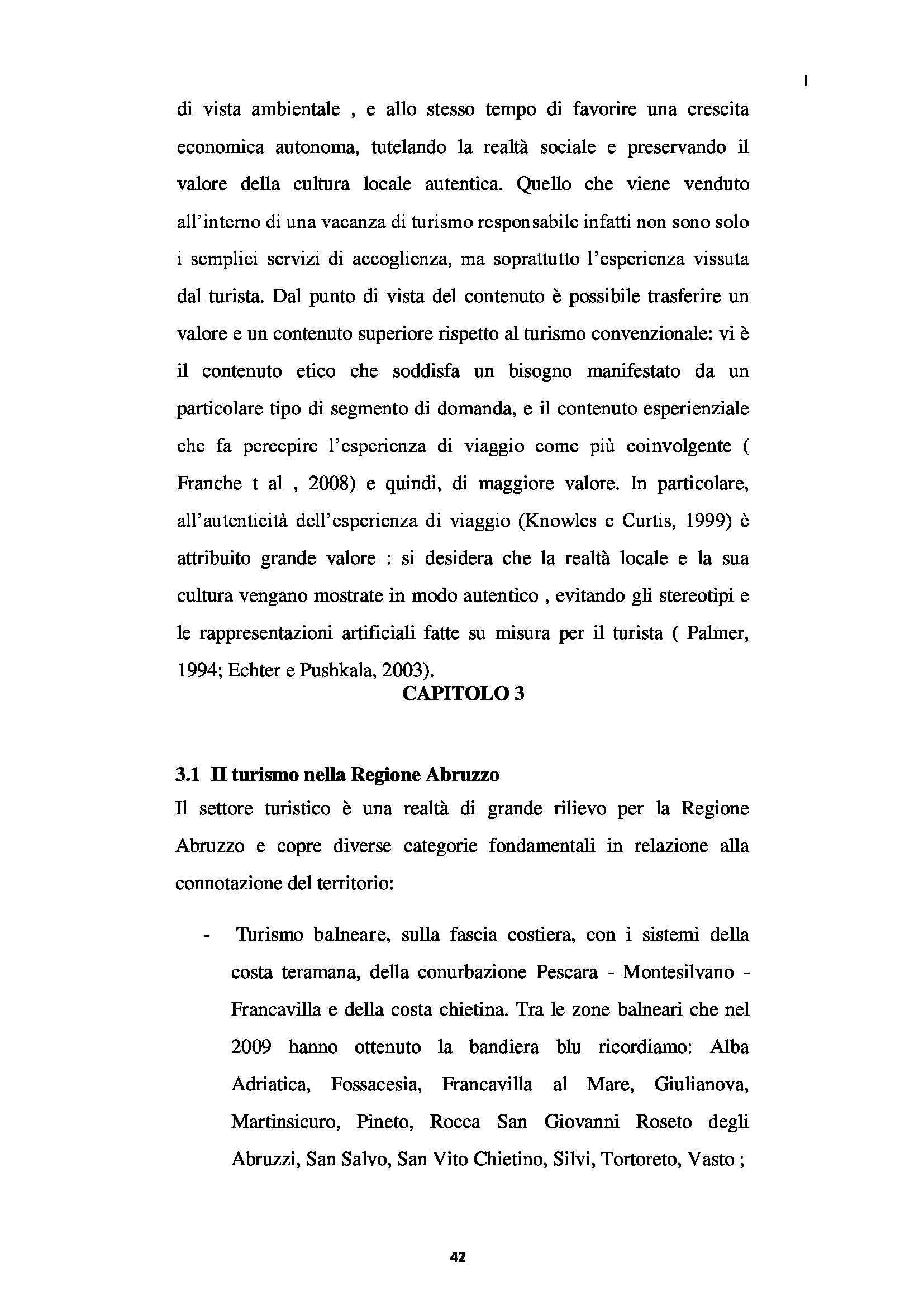Tesi - L'Albergo Diffuso e Il Territorio. Il Caso Della Regione Abruzzo Pag. 41