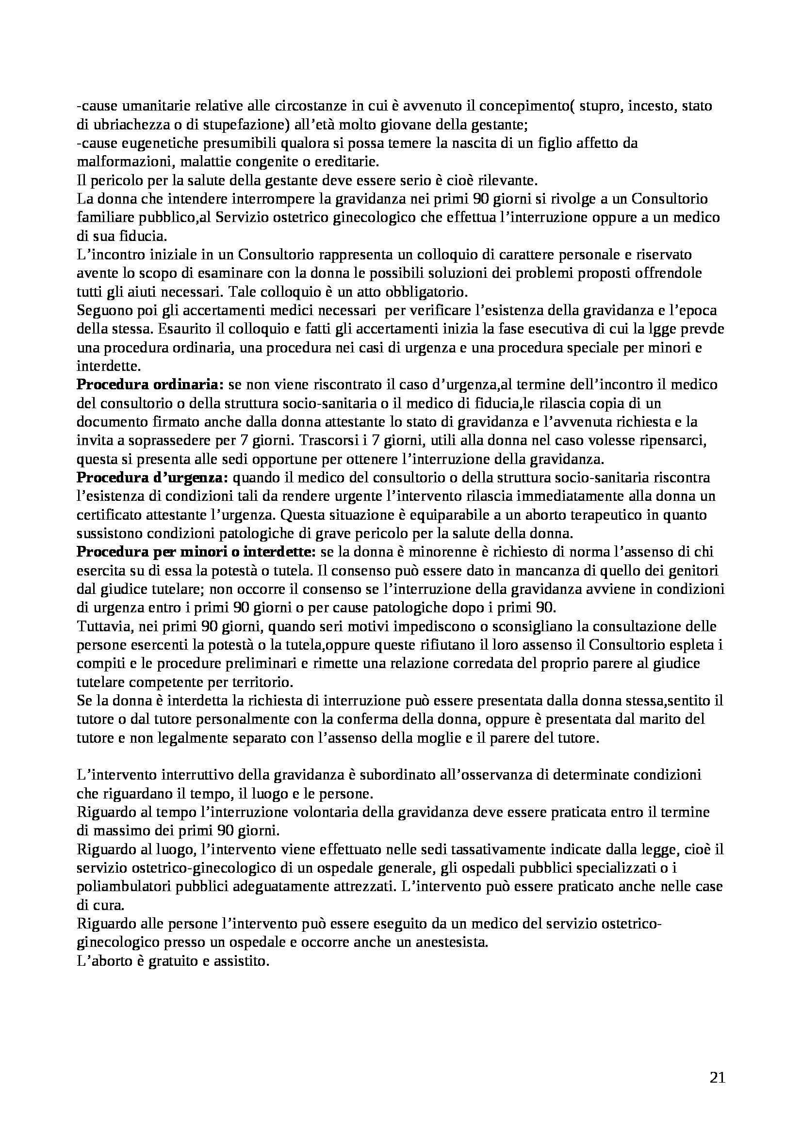 Riassunto esame Medicina legale, prof. Landi, libro consigliato Istituzioni di medicina legale, Puccini Pag. 21