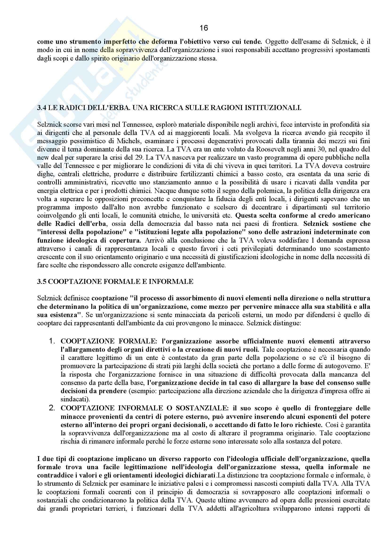 Riassunto esame Sociologia dell'Organizzazione, prof. Corsale, libro consigliato Come Studiare le Organizzazioni, Bonazzi Pag. 16