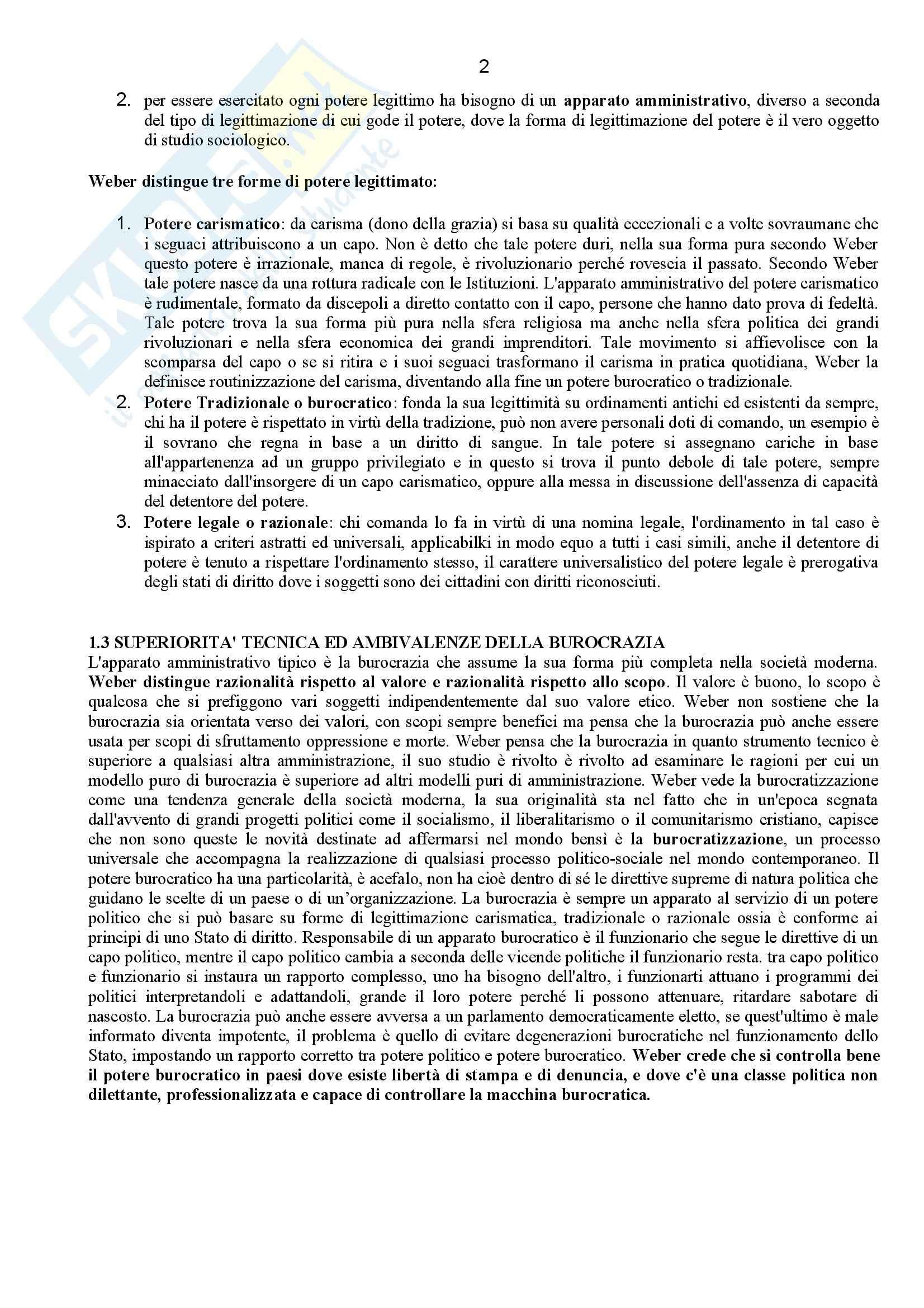 Riassunto esame Sociologia dell'Organizzazione, prof. Corsale, libro consigliato Come Studiare le Organizzazioni, Bonazzi Pag. 2