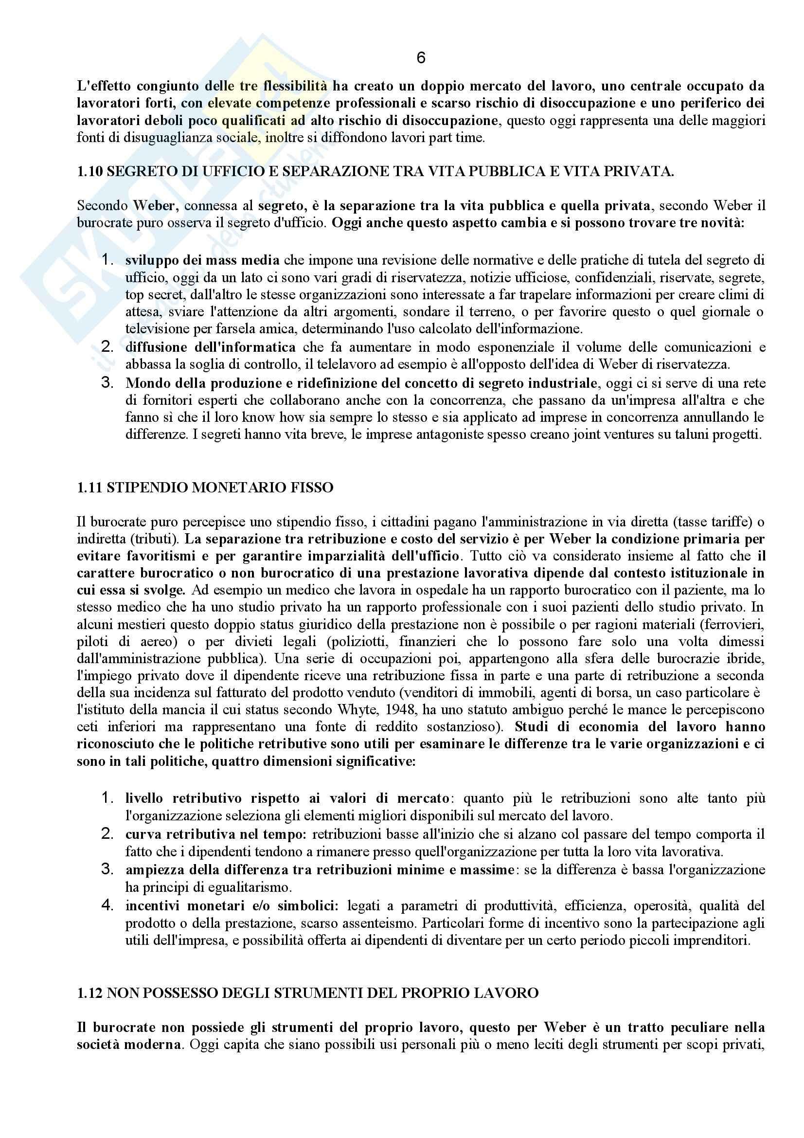 Riassunto esame Sociologia dell'Organizzazione, prof. Corsale, libro consigliato Come Studiare le Organizzazioni, Bonazzi Pag. 6