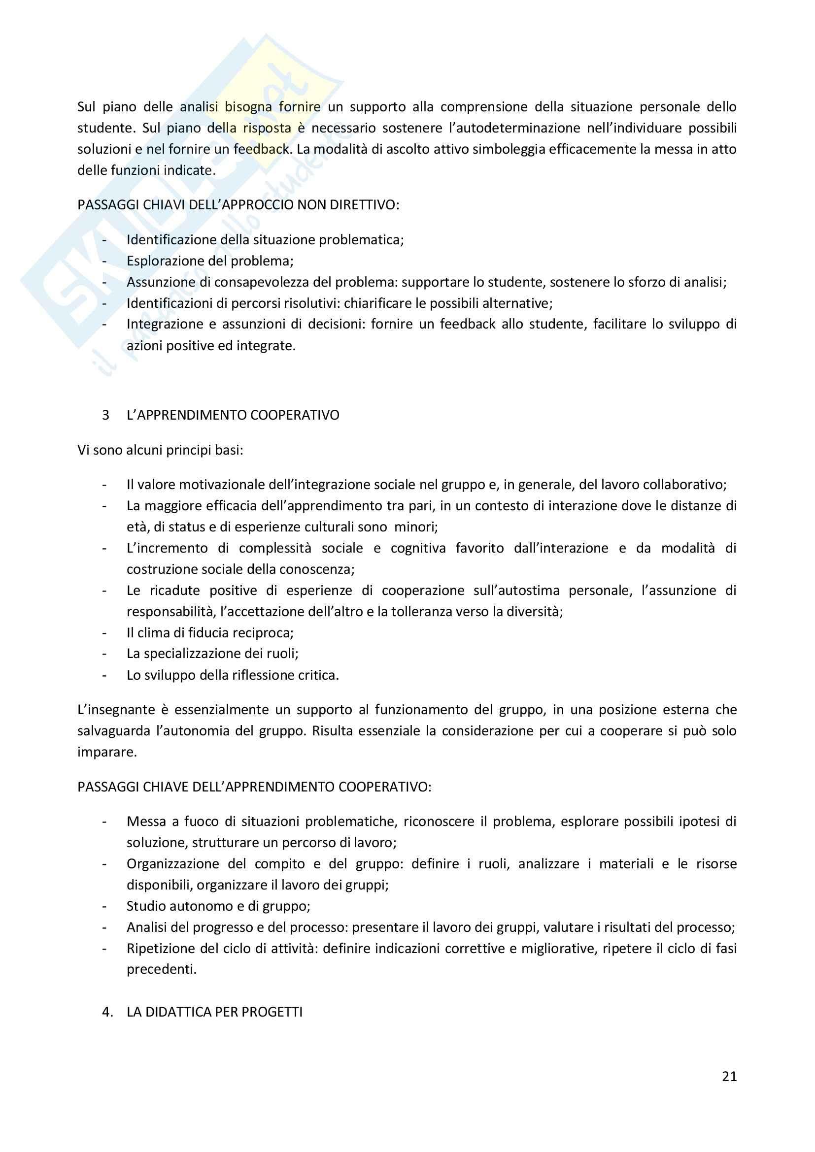 Riassunto esame Didattica Generale, prof. Milito, libro consigliato Didattica Generale, Castoldi Pag. 21
