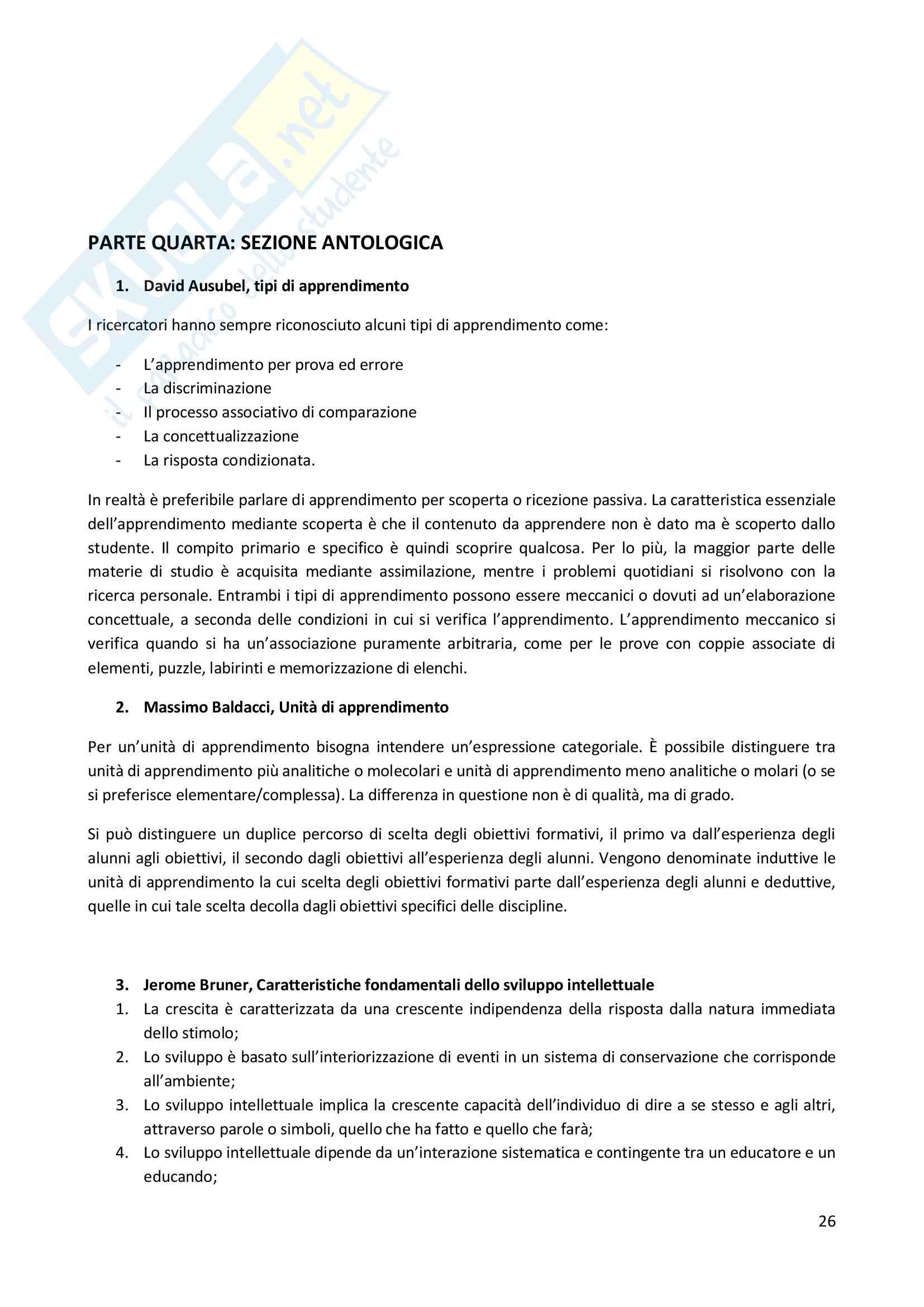 Riassunto esame Didattica Generale, prof. Milito, libro consigliato Didattica Generale, Castoldi Pag. 26