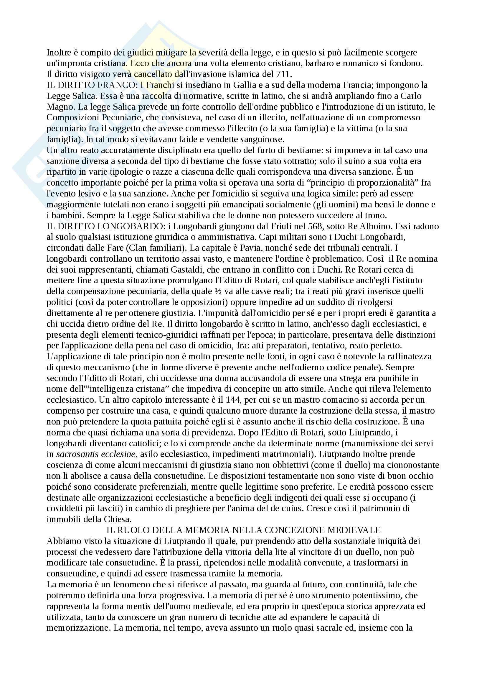 Storia del diritto medievale e moderno - Appunti Pag. 6