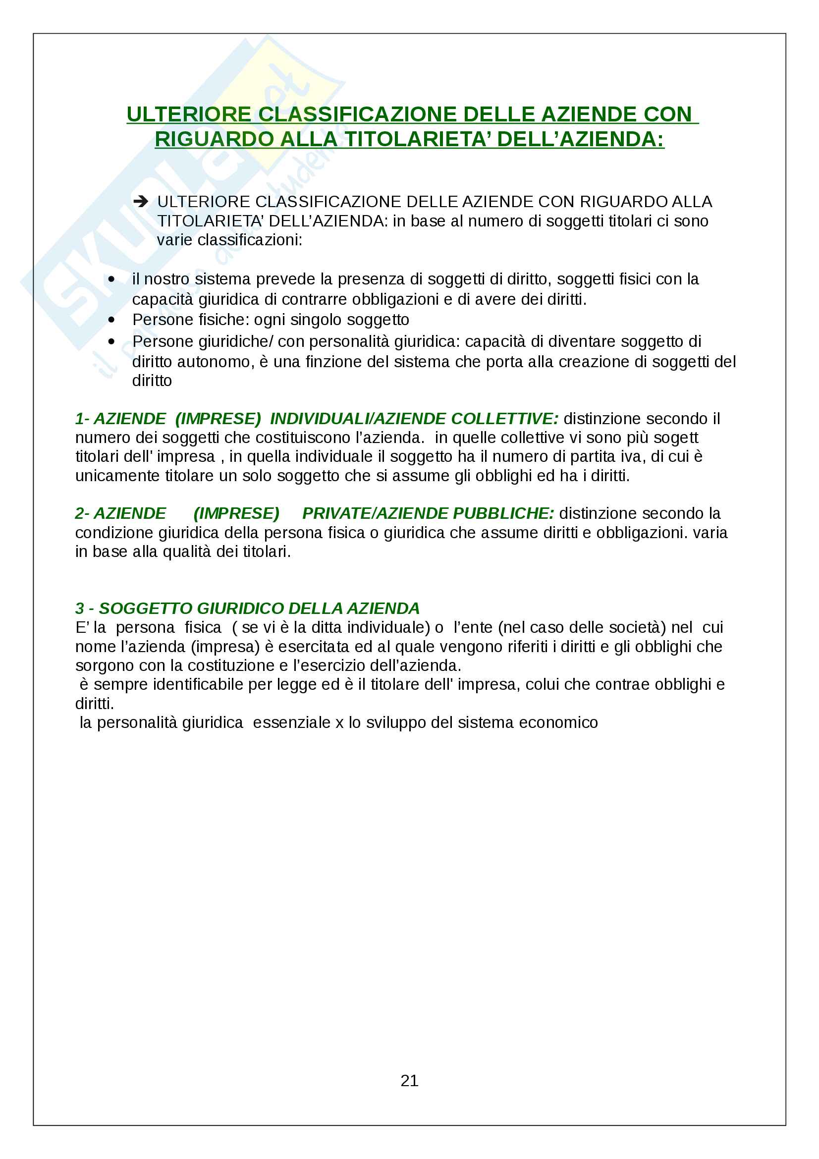 Appunti Economia aziendale Pag. 21
