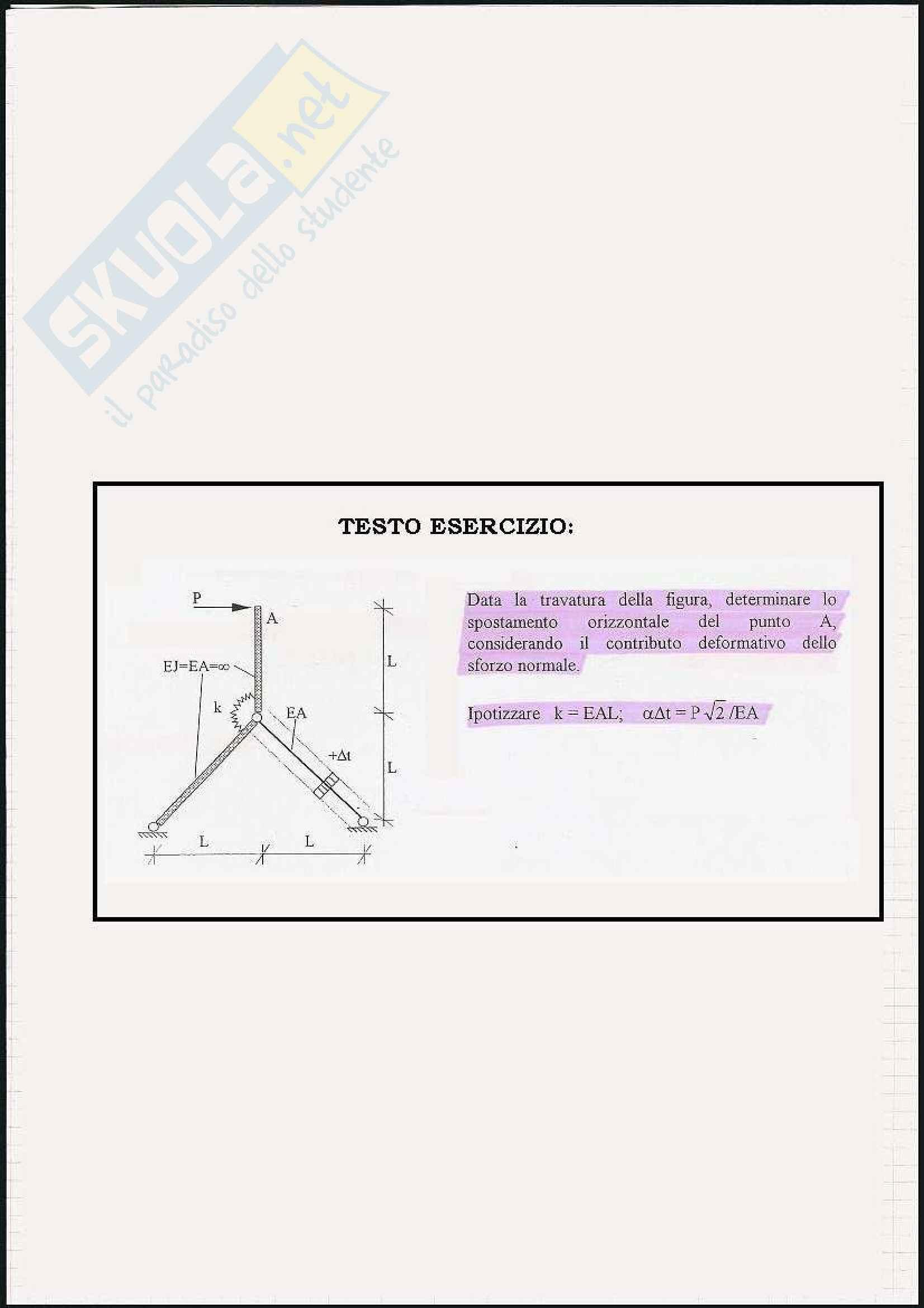 esercitazione F. Angotti Scienza delle costruzioni