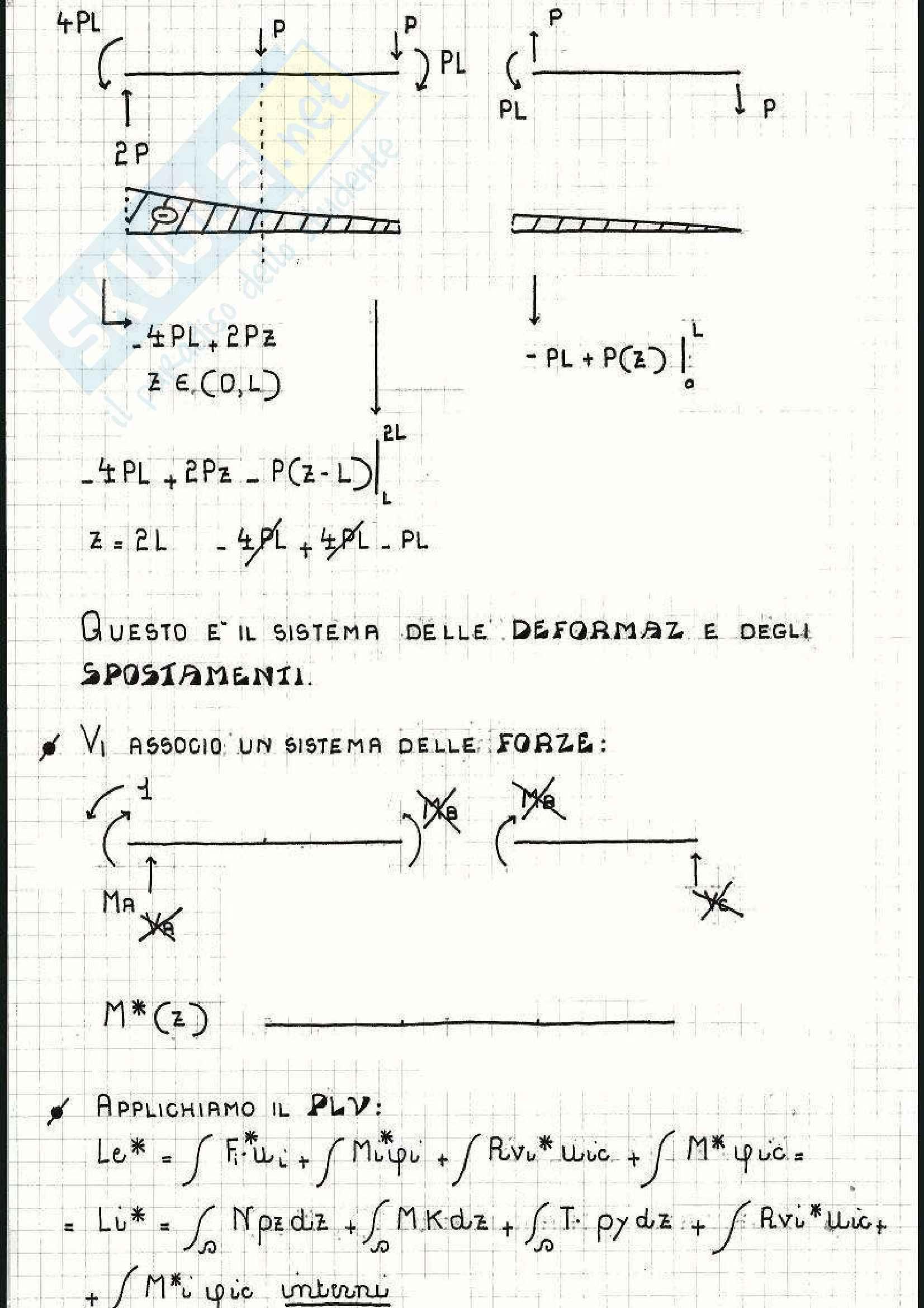 Scienza delle costruzioni - Esercizi su lavoro virtuale e Mohr Pag. 11