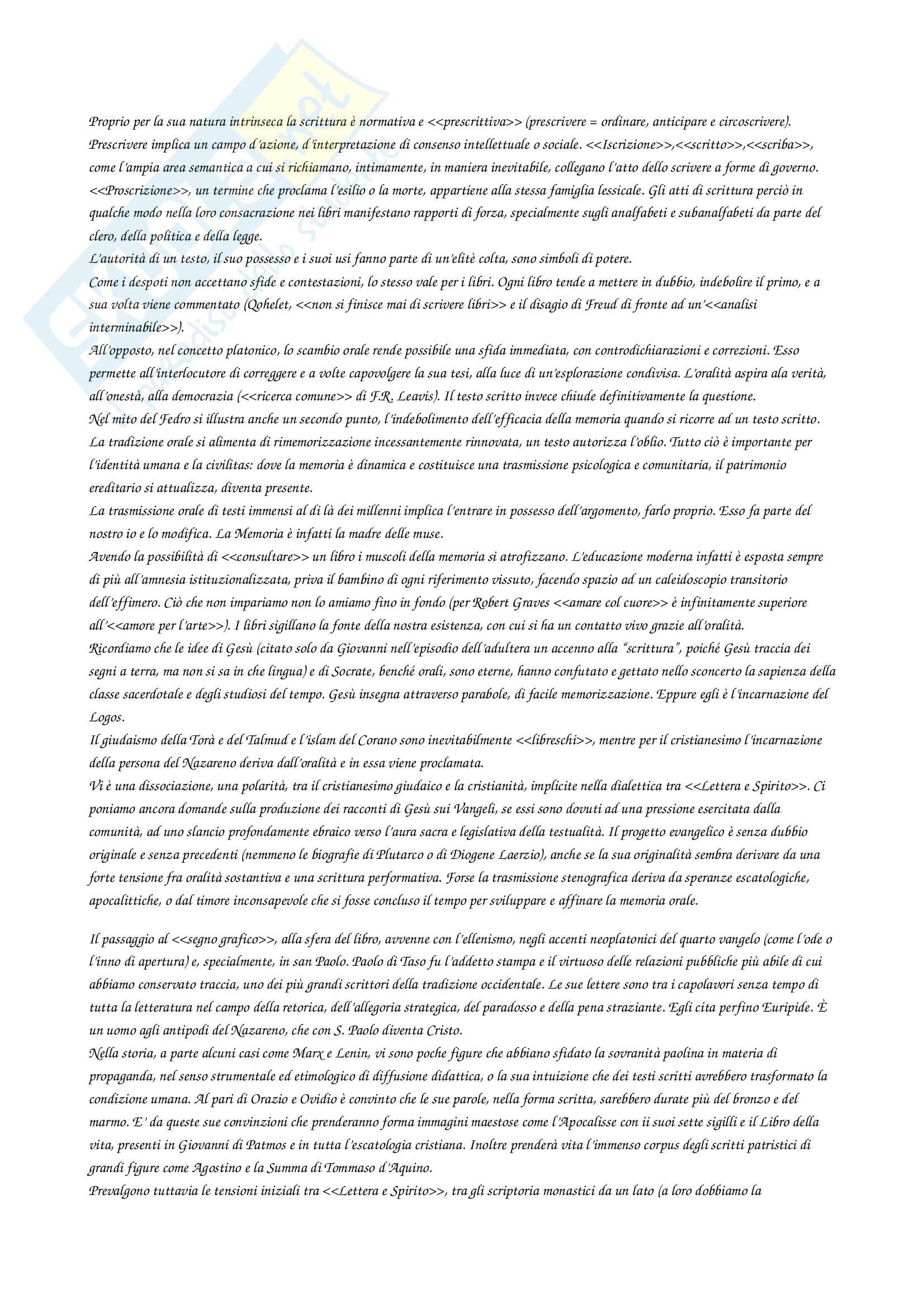 Riassunto esame Letteratura Italiana I, prof. Vitelli, libro consigliato I Libri Hanno Bisogno di Noi, Steiner Pag. 6