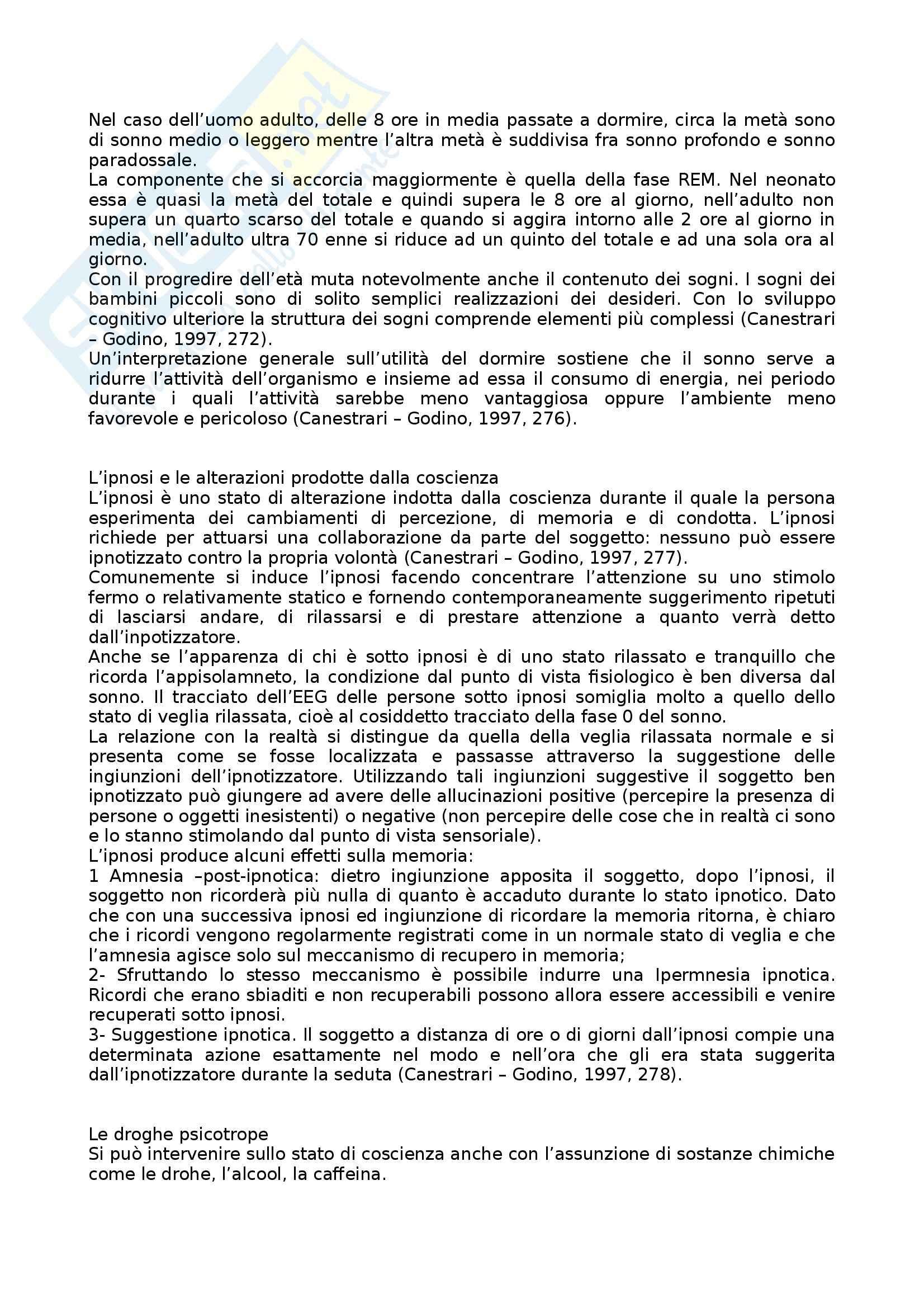 Riassunto esame Psicologia Generale, prof. Miceli, libro consigliato Trattato di Psicologia, Canestrari, Godino Pag. 61