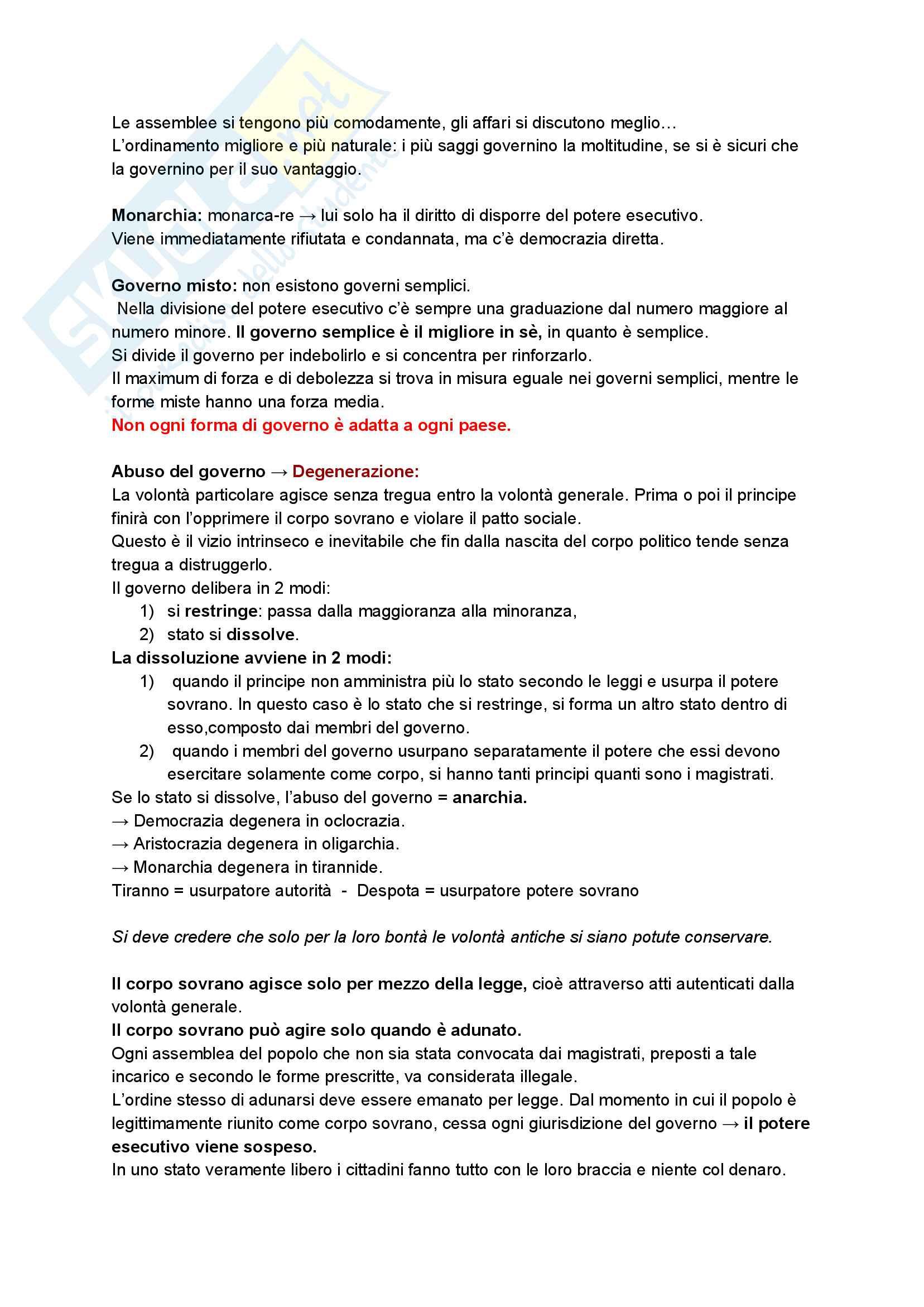 Il contratto sociale, Rousseau Pag. 11