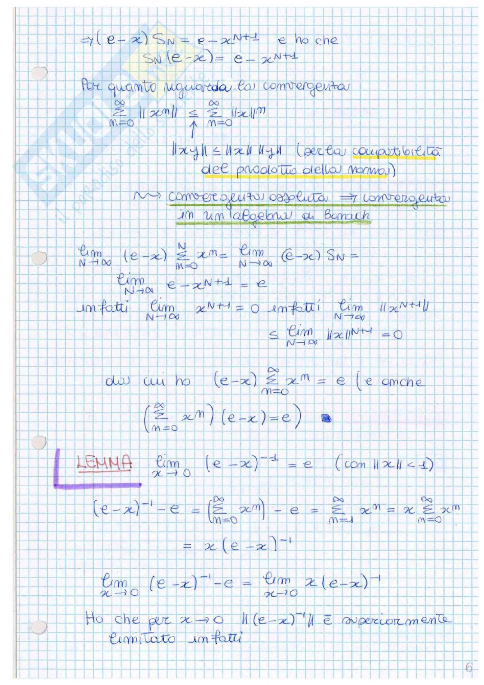 Analisi armonica e di Fourier Pag. 11