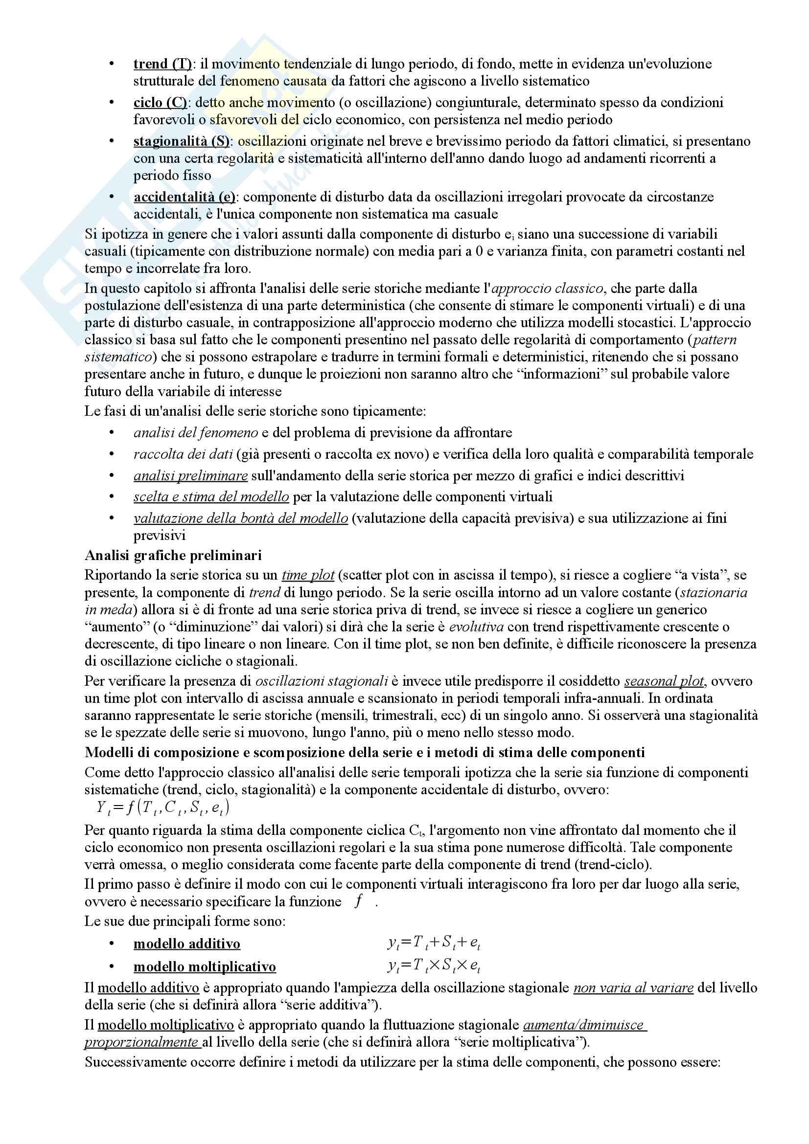 Riassunto esame Statistica Economica (Aziendale), prof. Grassini, libro consigliato Statistica per le decisioni aziendali, Biggeri, Bini e a.v. Pag. 16