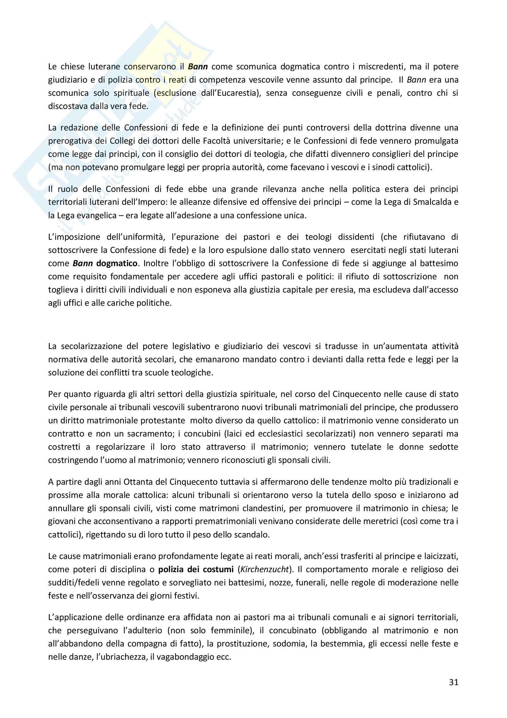 Riassunto esame Storia moderna, prof Fosi, libro consigliato La giustizia intollerante, Brambilla Pag. 31