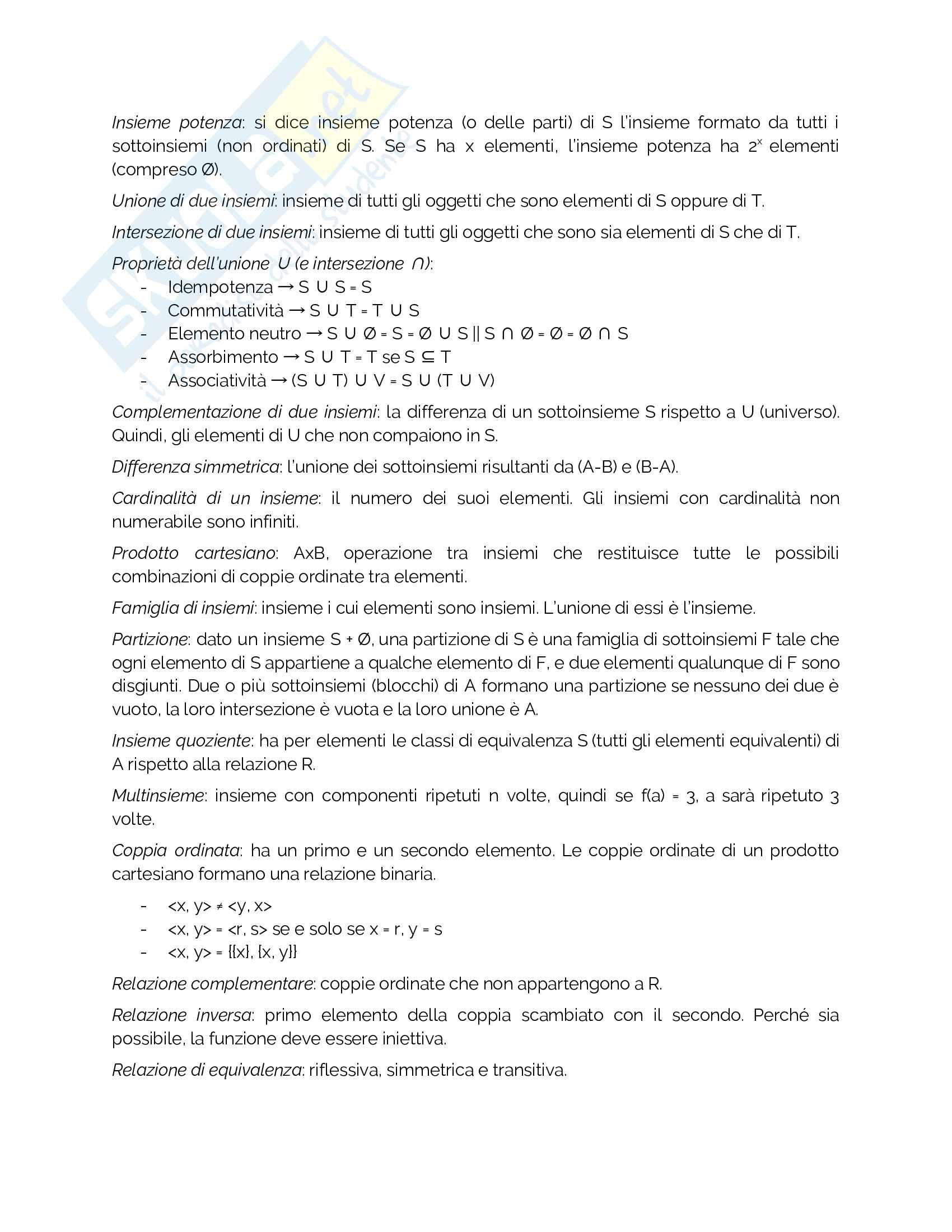 Riassunto fondamenti di informatica Pag. 2