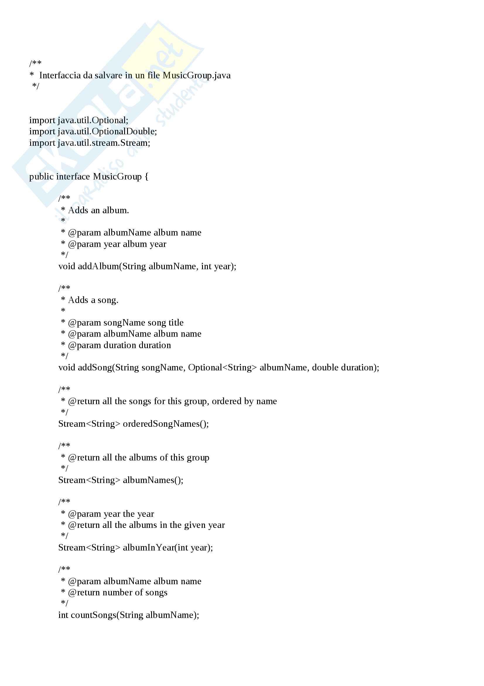 Java - Utilizzo Lambda Expression & Streams - Esercitazione Svolta 2