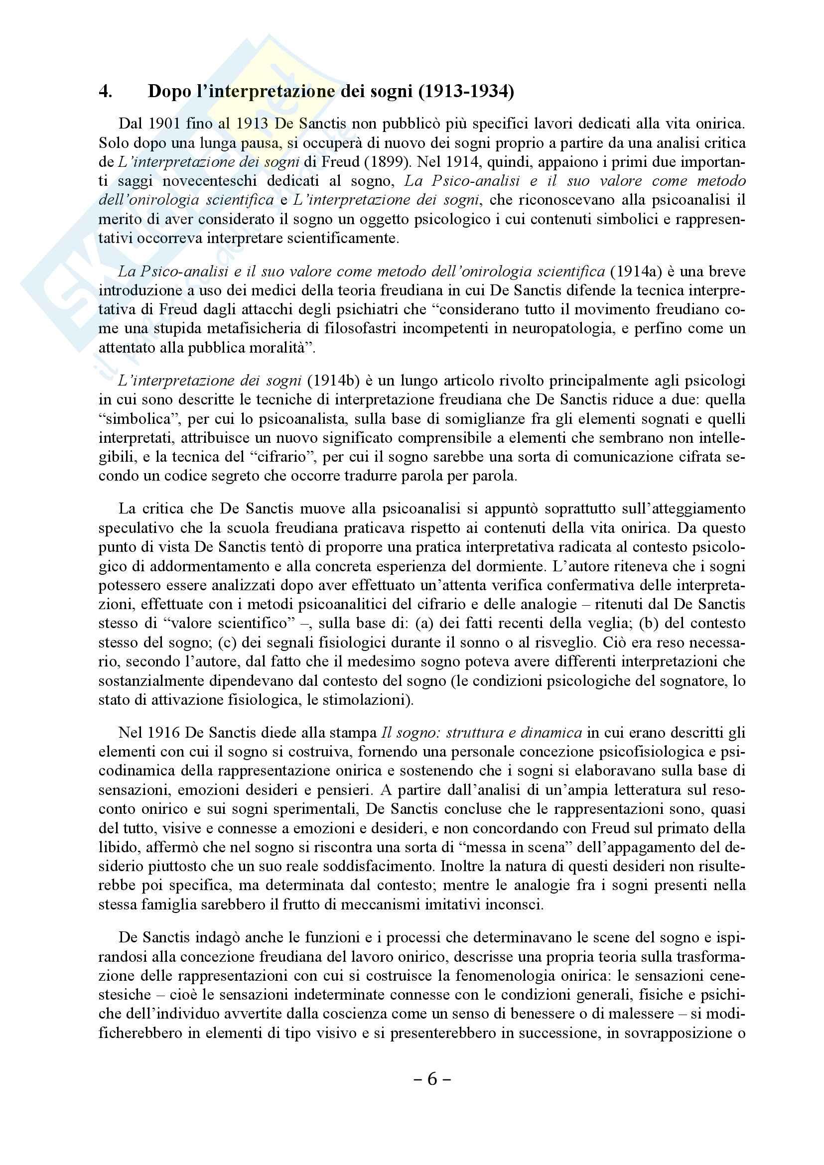 Storia della Psicologia - Tesina su Sante De Sanctis Pag. 6