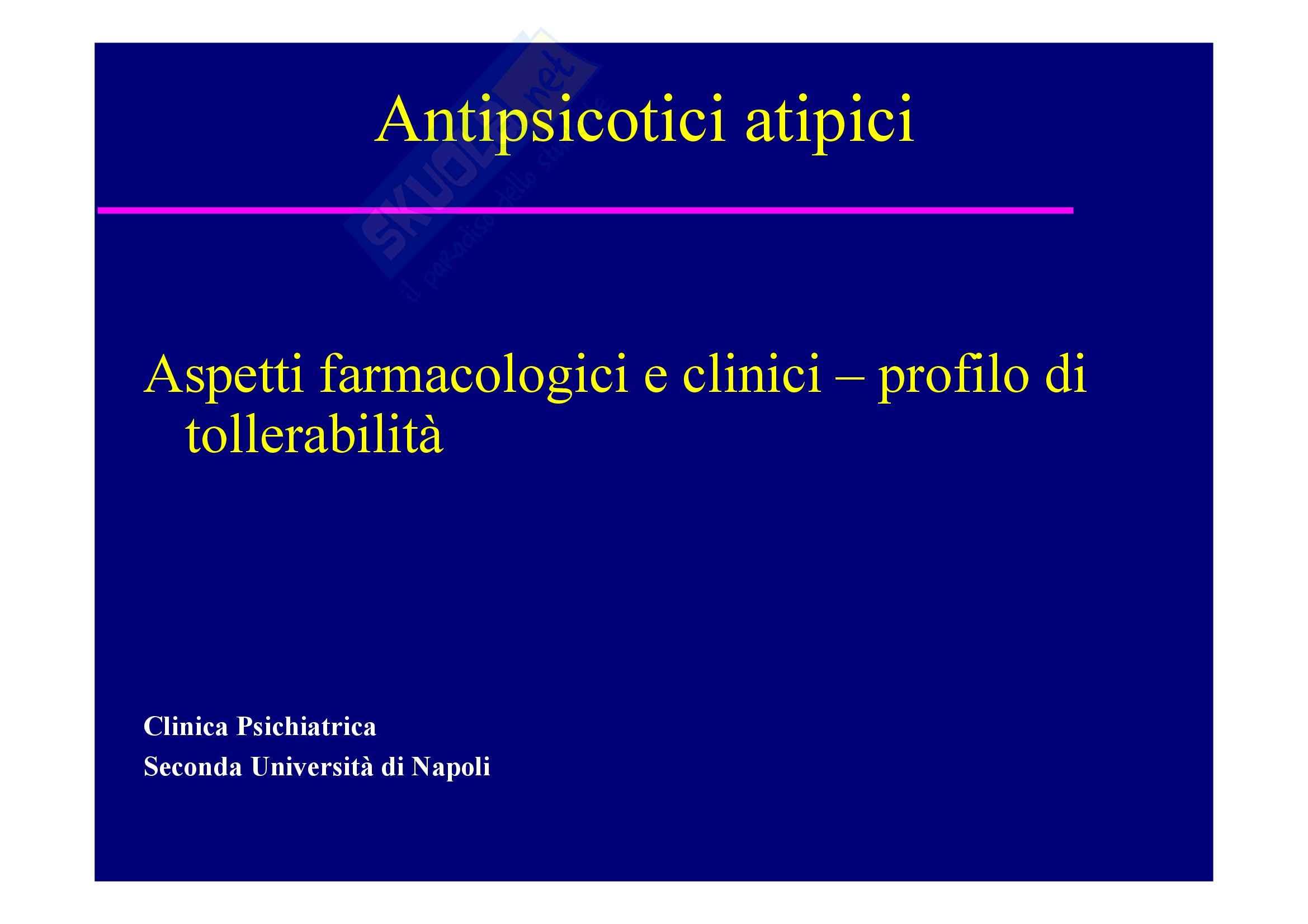 Psichiatria e neuropsichiatria infantile - antipsicotici atipici